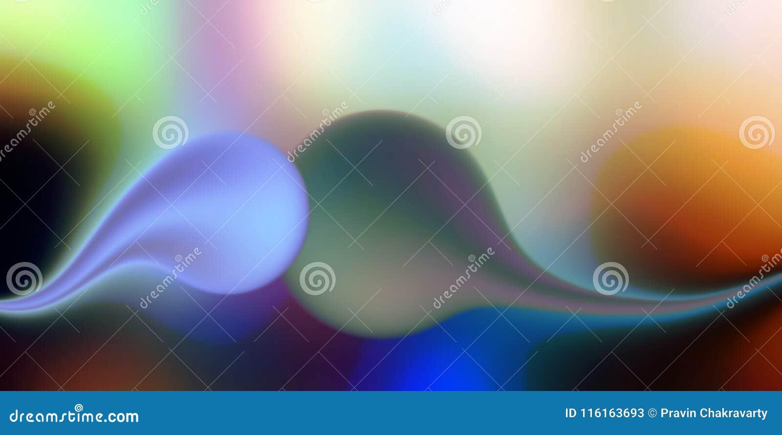 抽象与照明设备和3个d作用,传染媒介例证的传染媒介五颜六色的被遮蔽的波浪背景