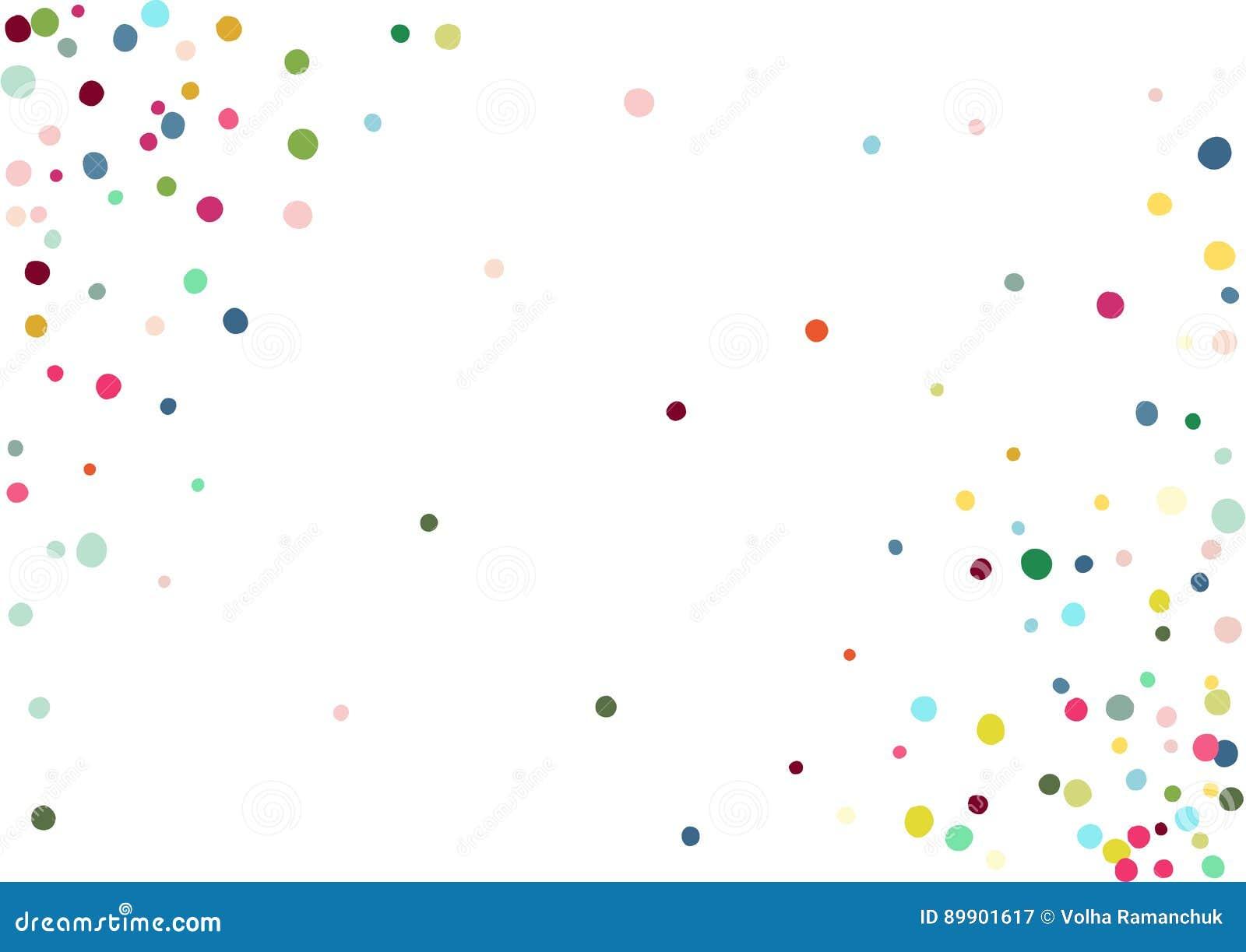 抽象五颜六色的五彩纸屑背景 查出在白色 传染媒介假日例证