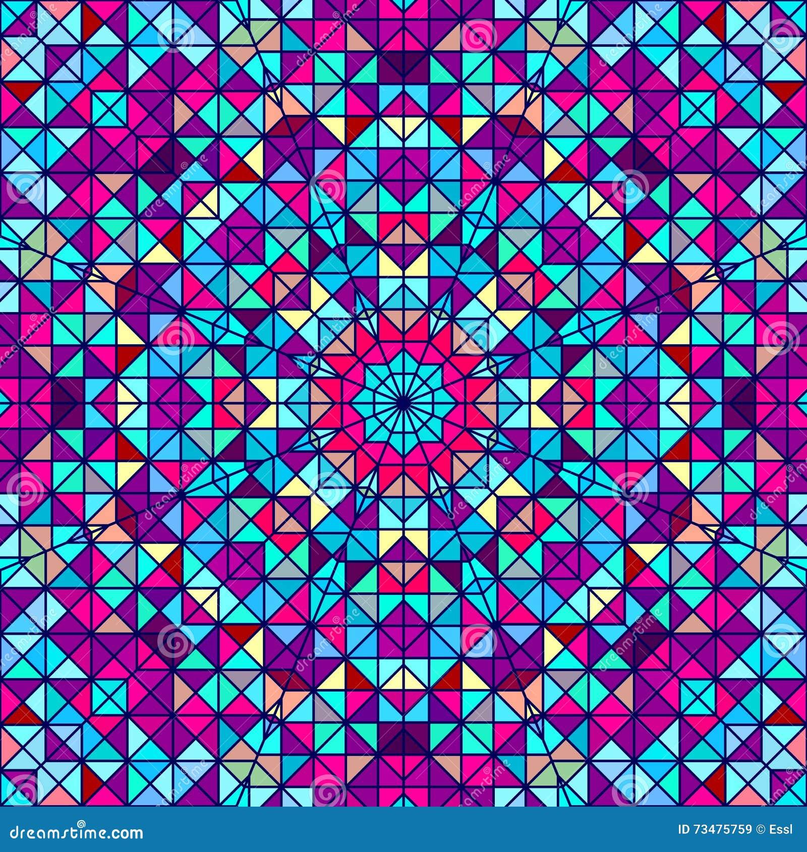 抽象五颜六色的数字式装饰花