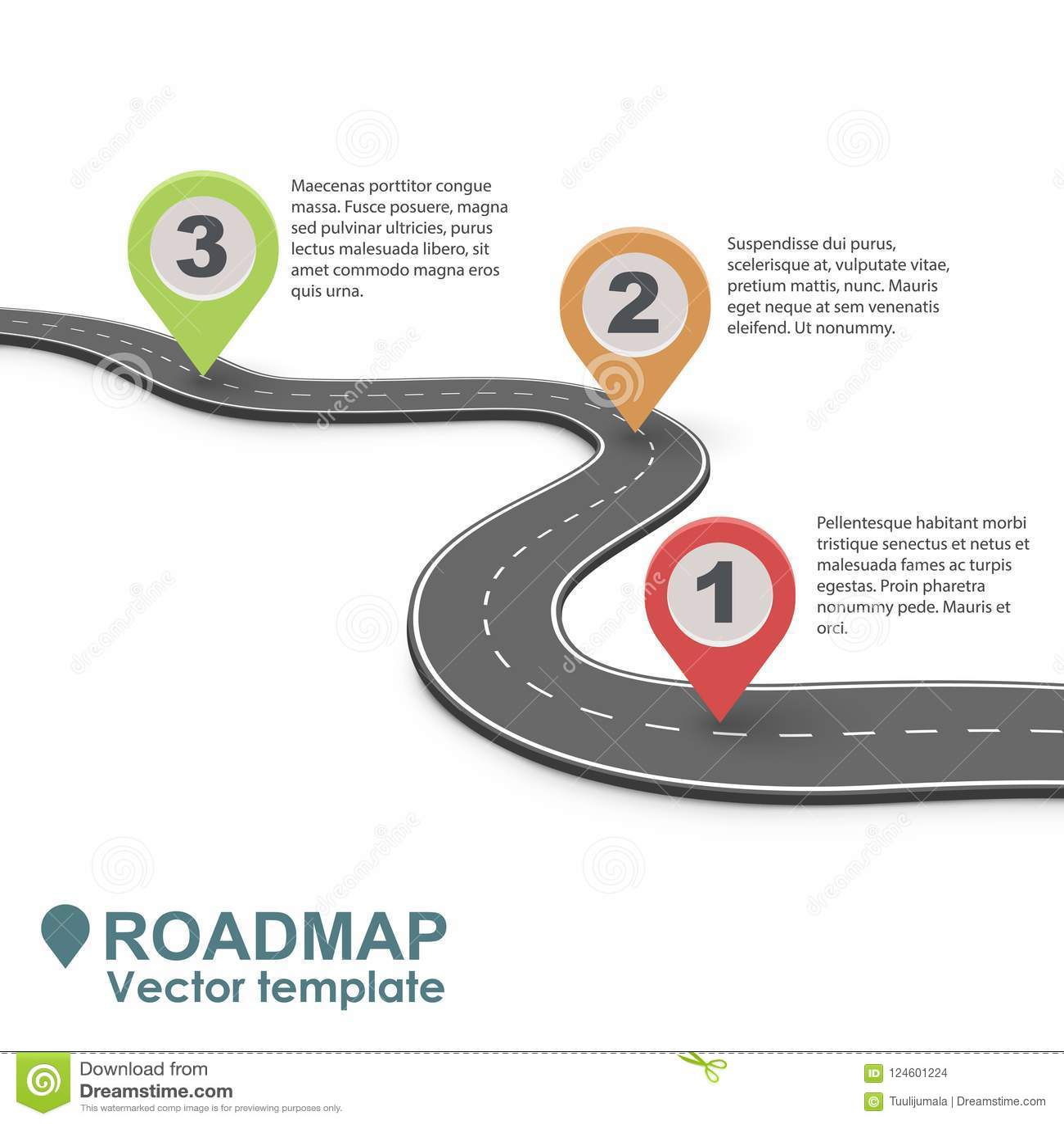 抽象企业路线图Infographic