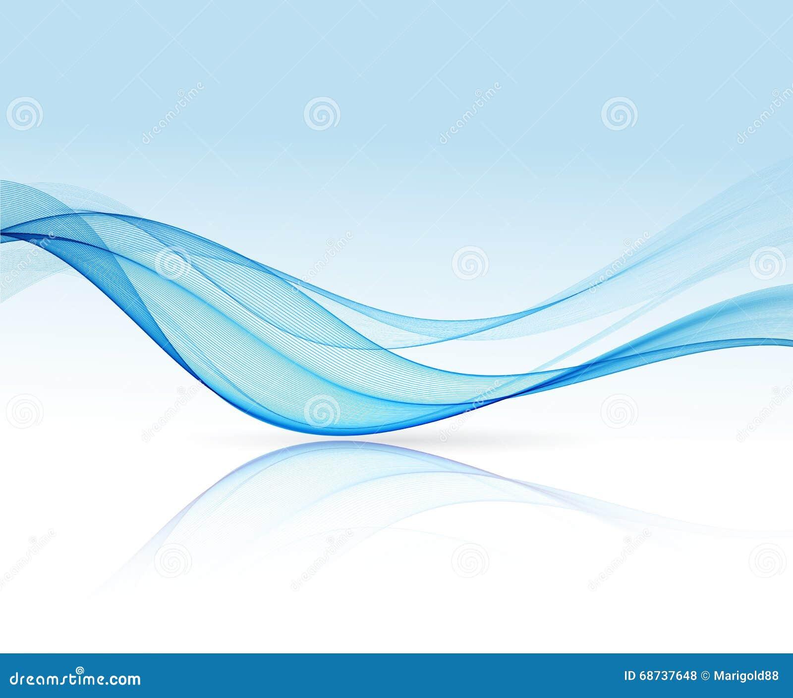 波浪抽象的蓝线 五颜六色的蓝色波向量背景 小册子或网站设计.图片