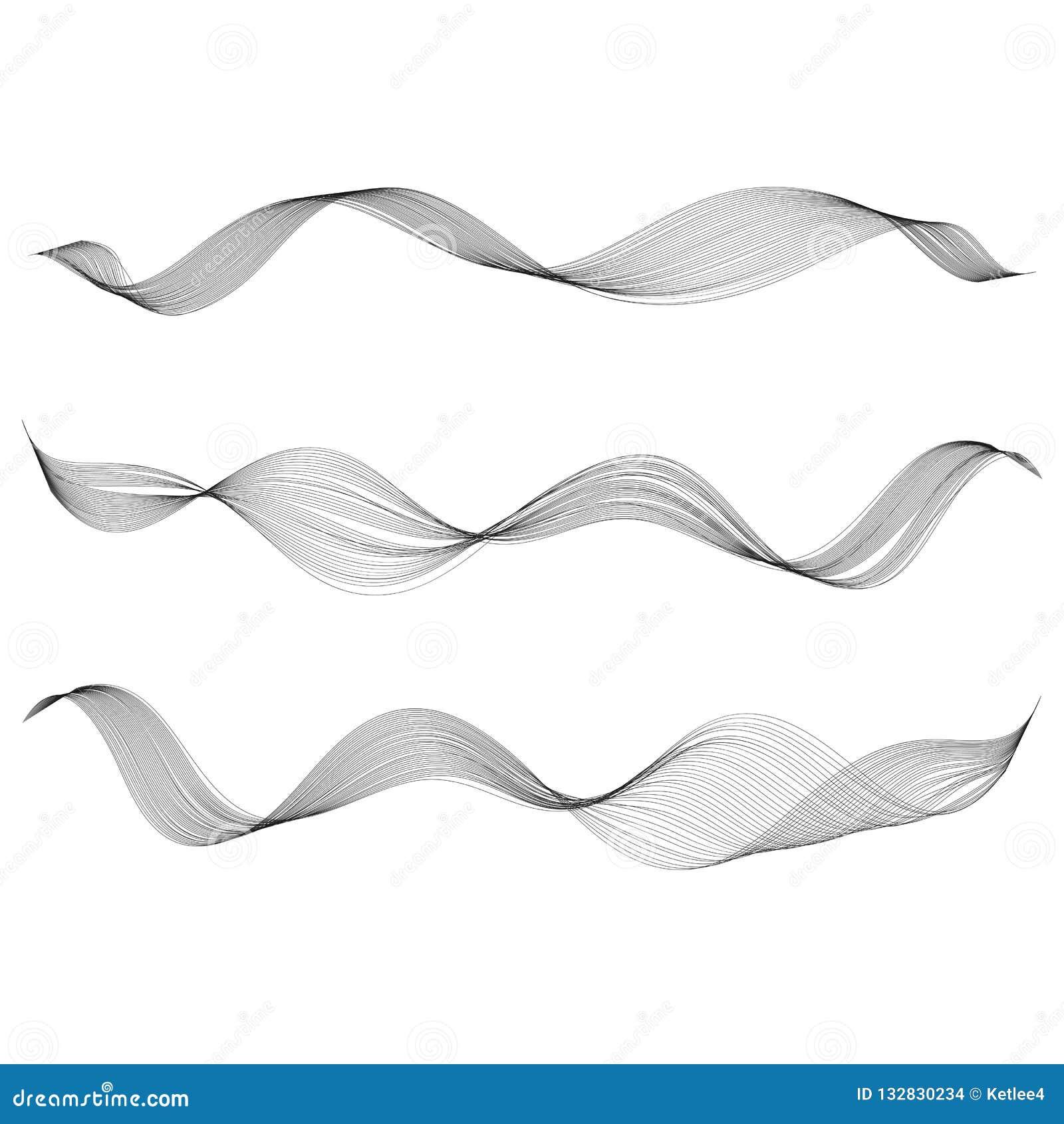 抽象光滑的曲线线设计元素传统化了音乐波浪