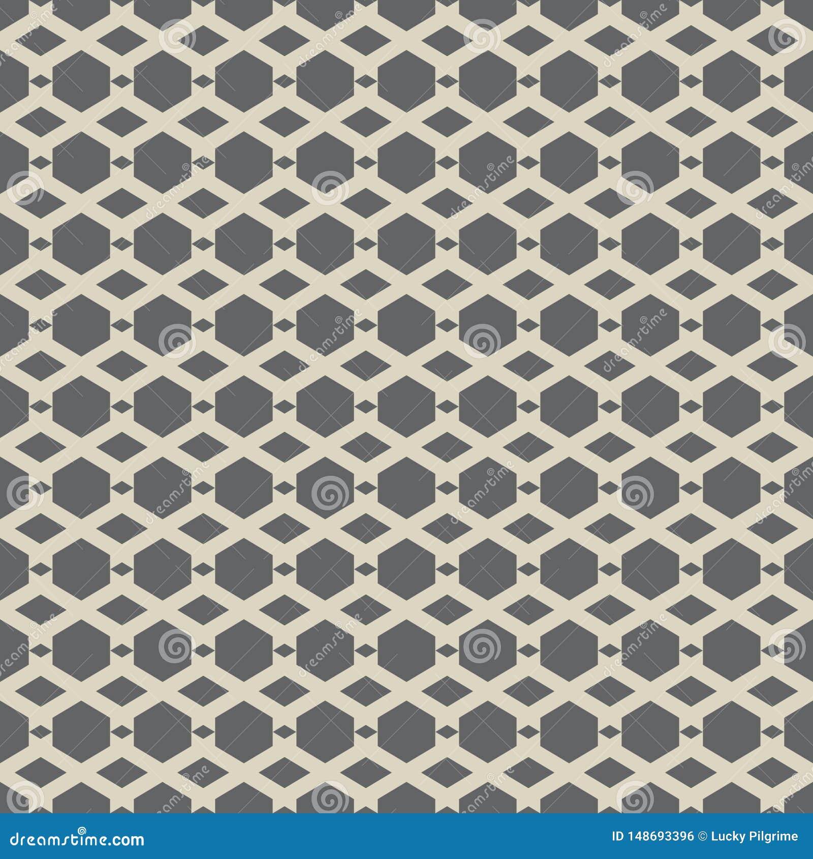 抽象六角形的传染媒介无缝的样式