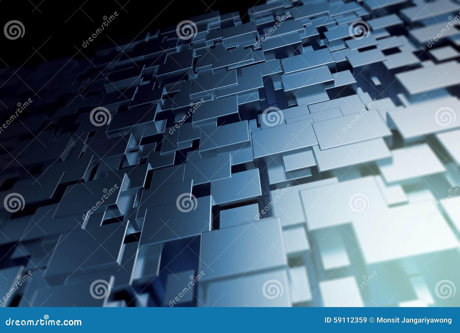 抽象几何形状有发光的金属背景