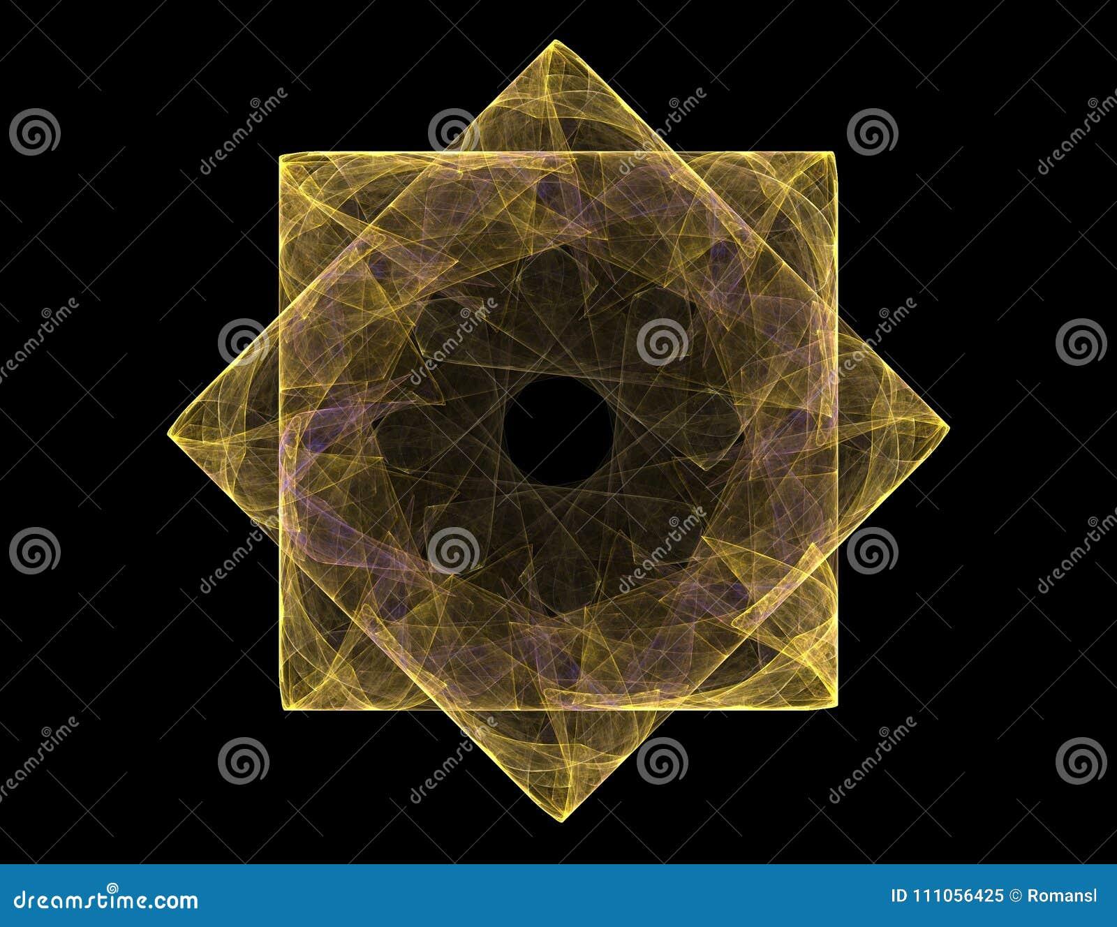 抽象分数维微粒关于核物理科学和图形设计形成 几何神圣的未来派quant