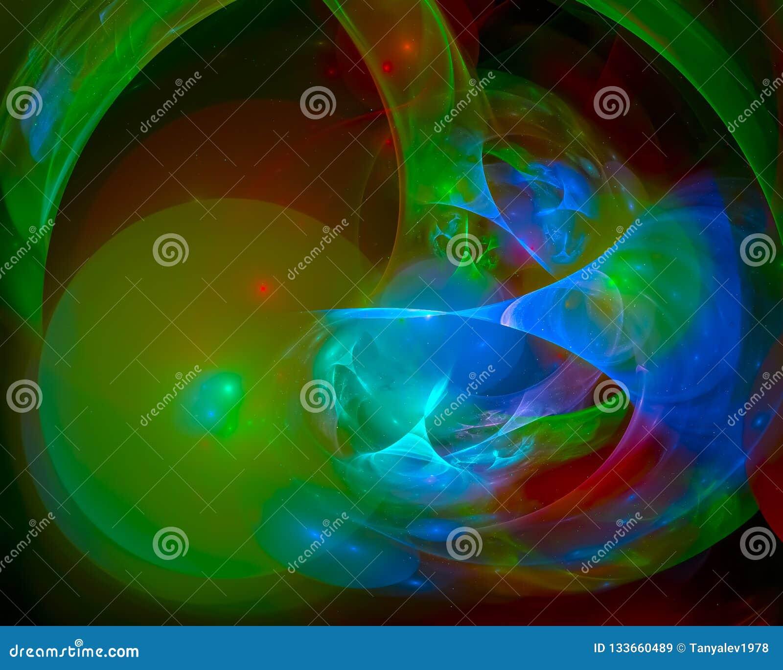抽象分数维,低时髦的奇怪的意想不到的明亮的未来派设计幻想,迪斯科,党