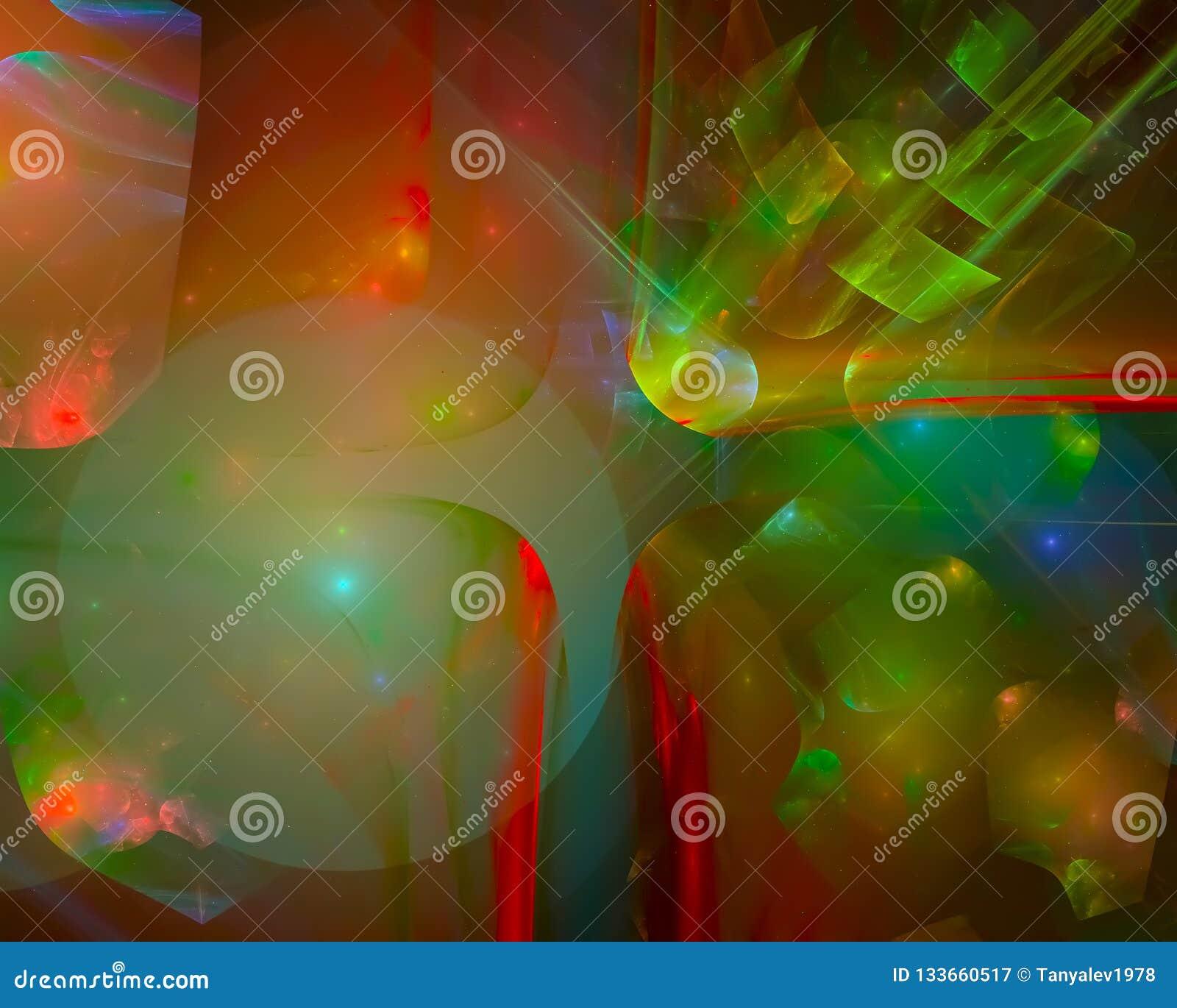 抽象分数维,时髦的奇怪的背景意想不到的明亮的未来派设计幻想,迪斯科,党