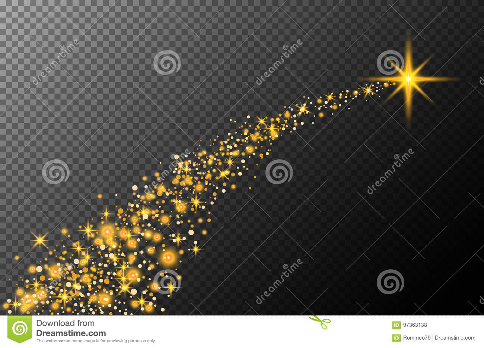抽象半透明的传染媒介不可思议的焕发星足迹光线影响