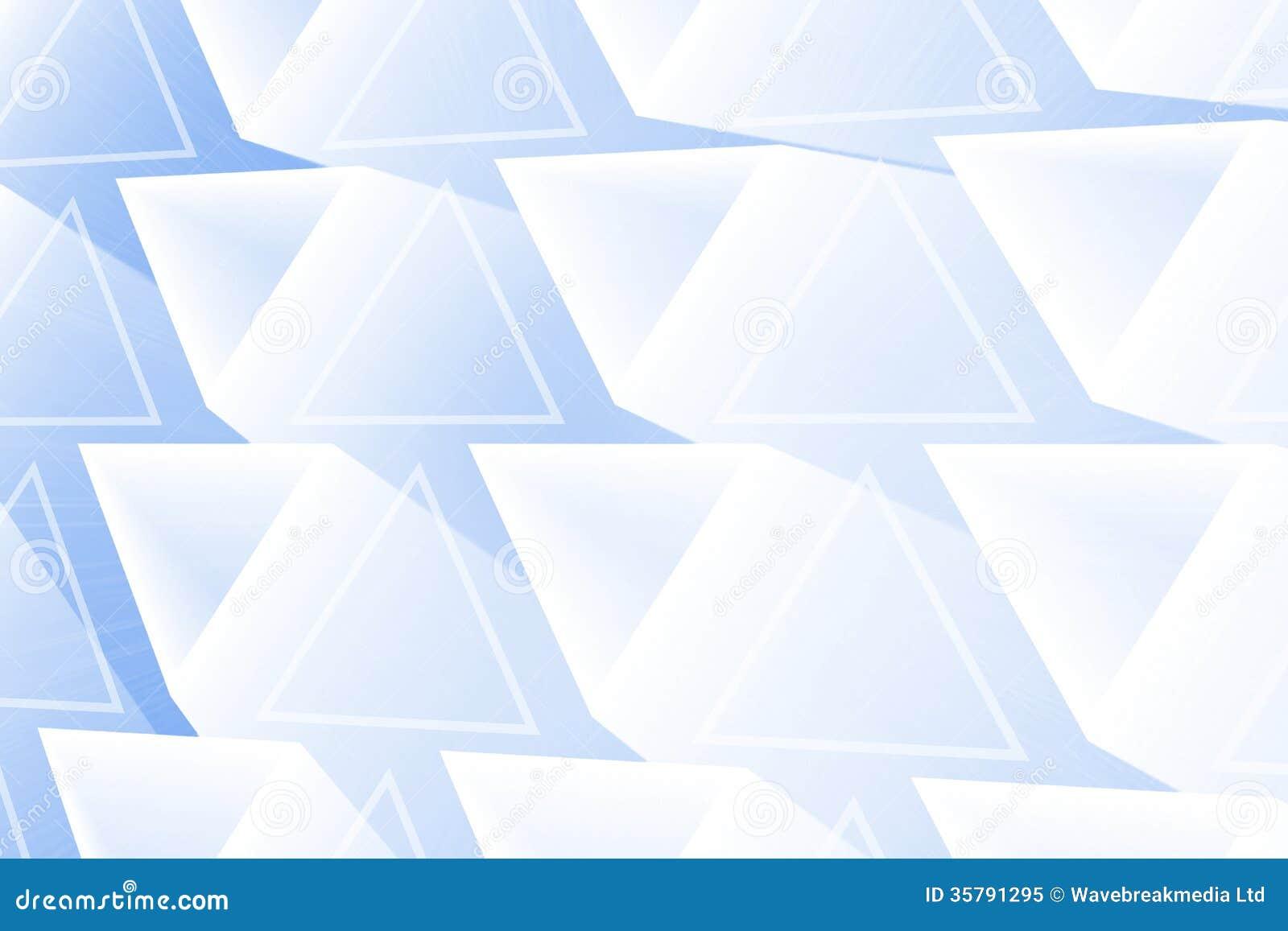 抽象发光的三角