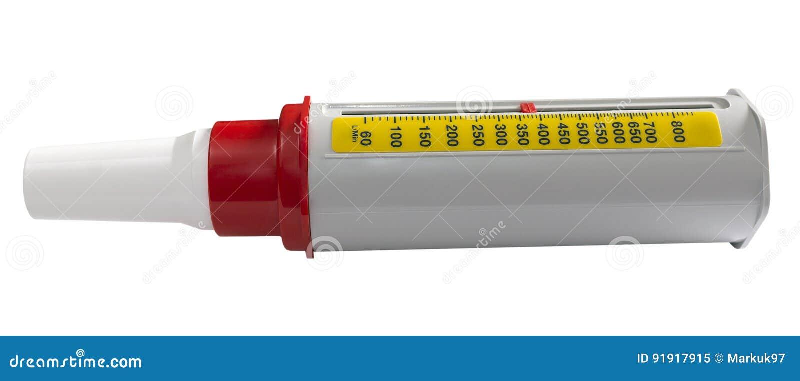 抽象哮喘背景流查出在患者峰顶集使用的白色的医疗米