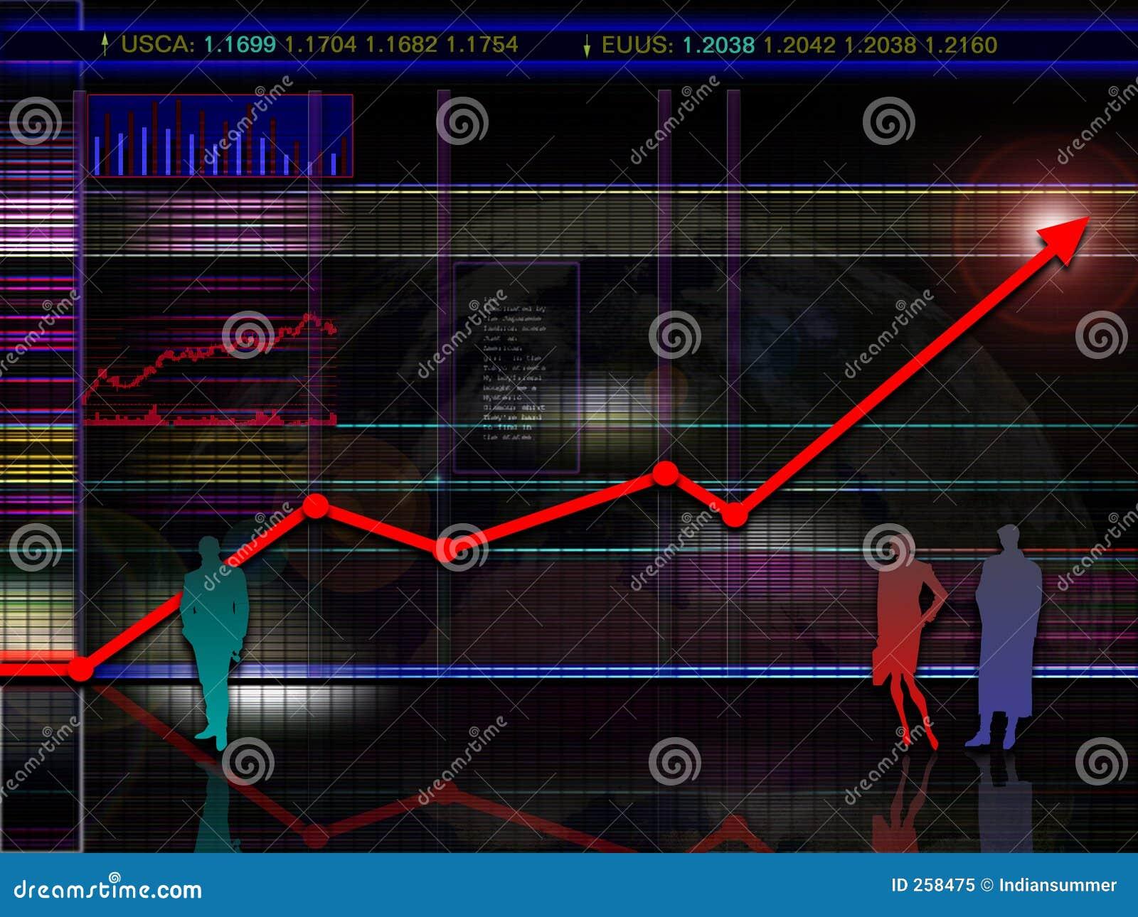 抽象图表未来派市场现代方案股票