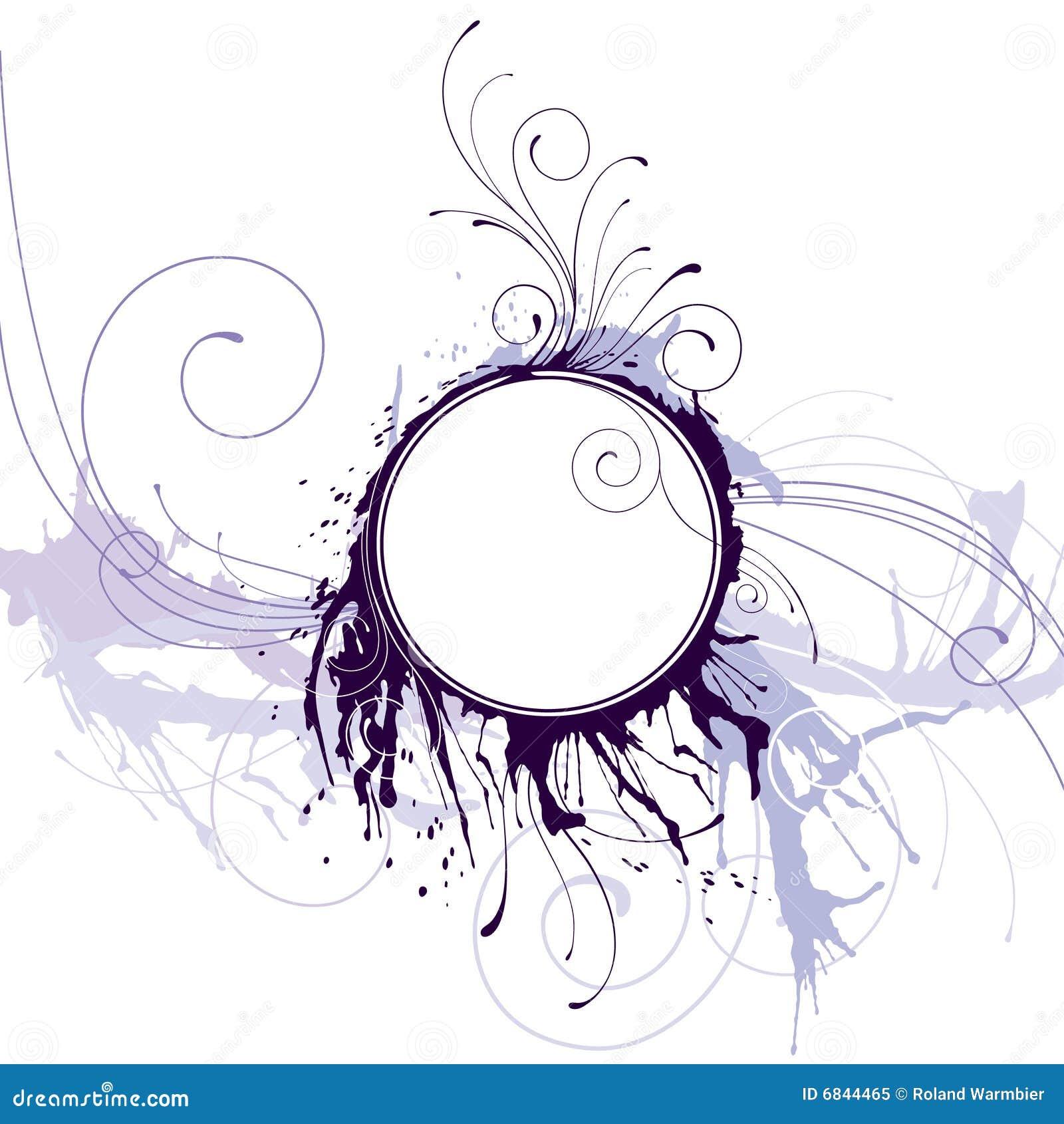 抽象圈子框架墨水