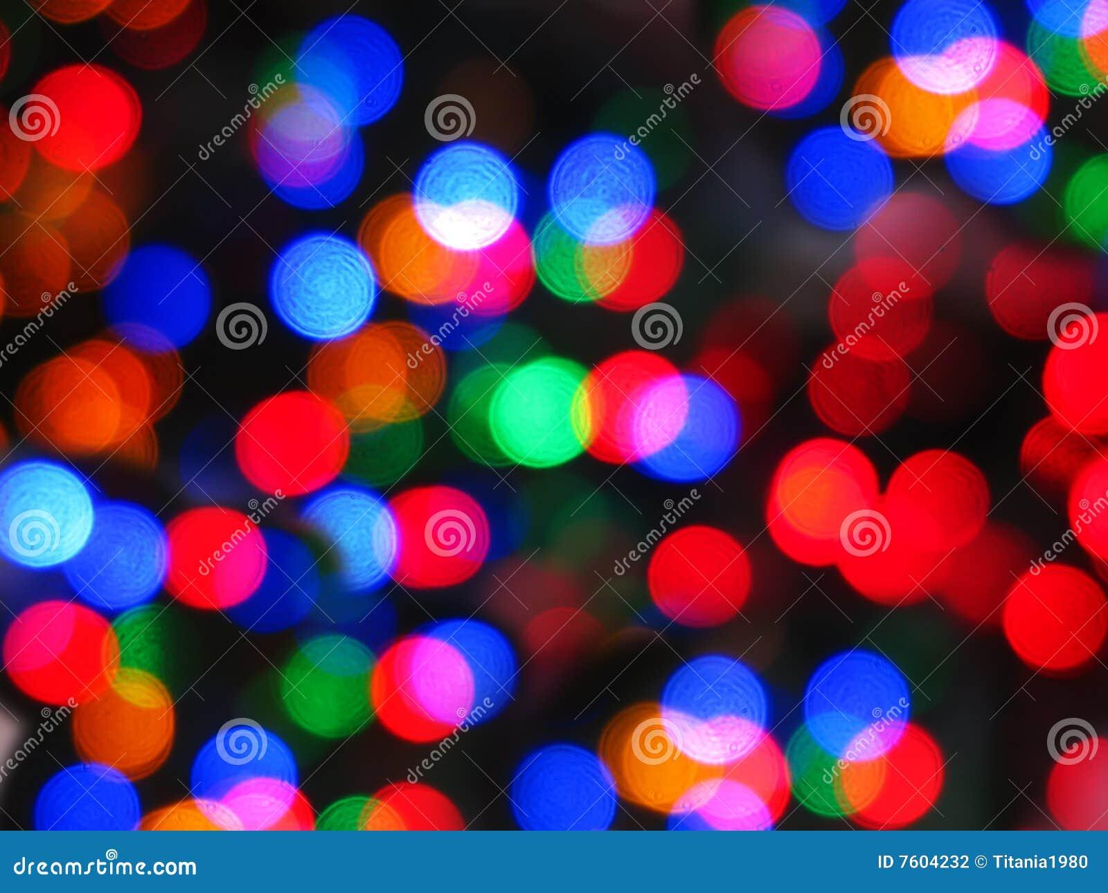 抽象圣诞灯