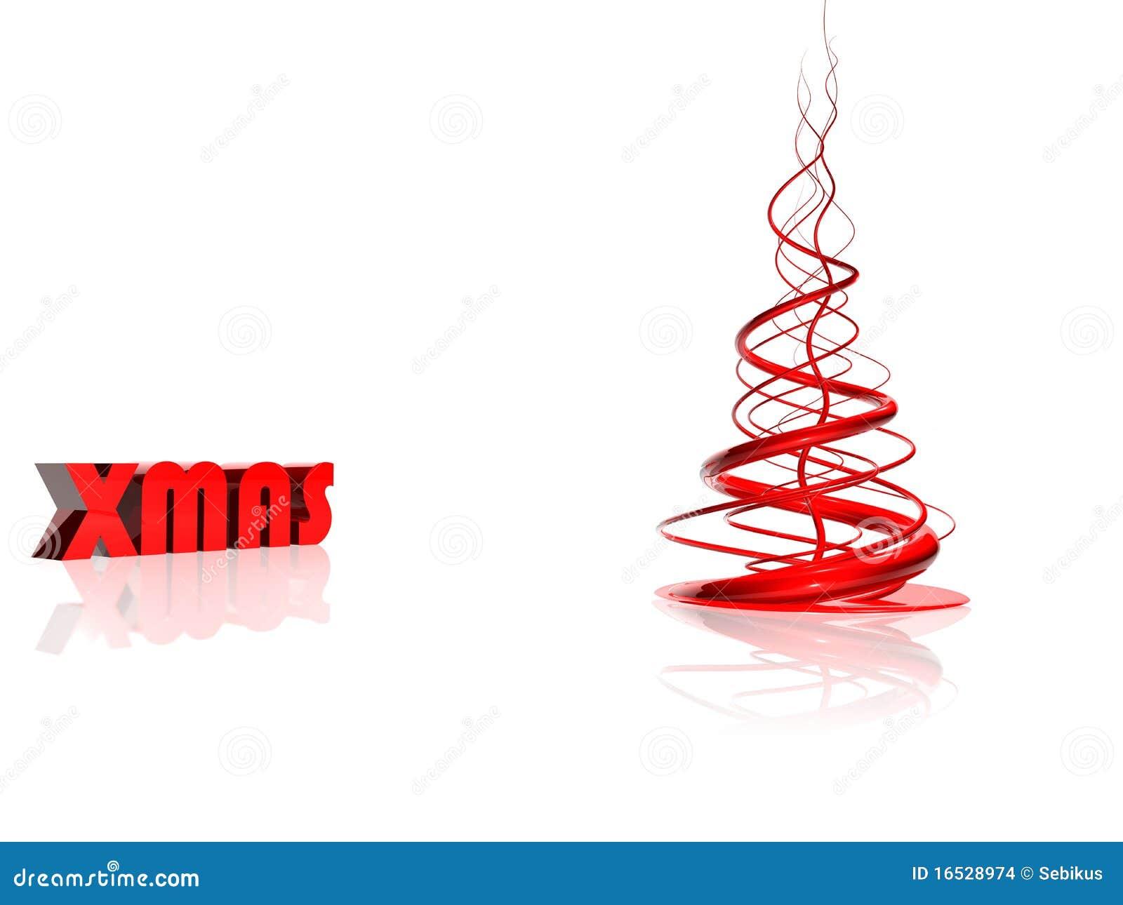 抽象圣诞节红色结构树