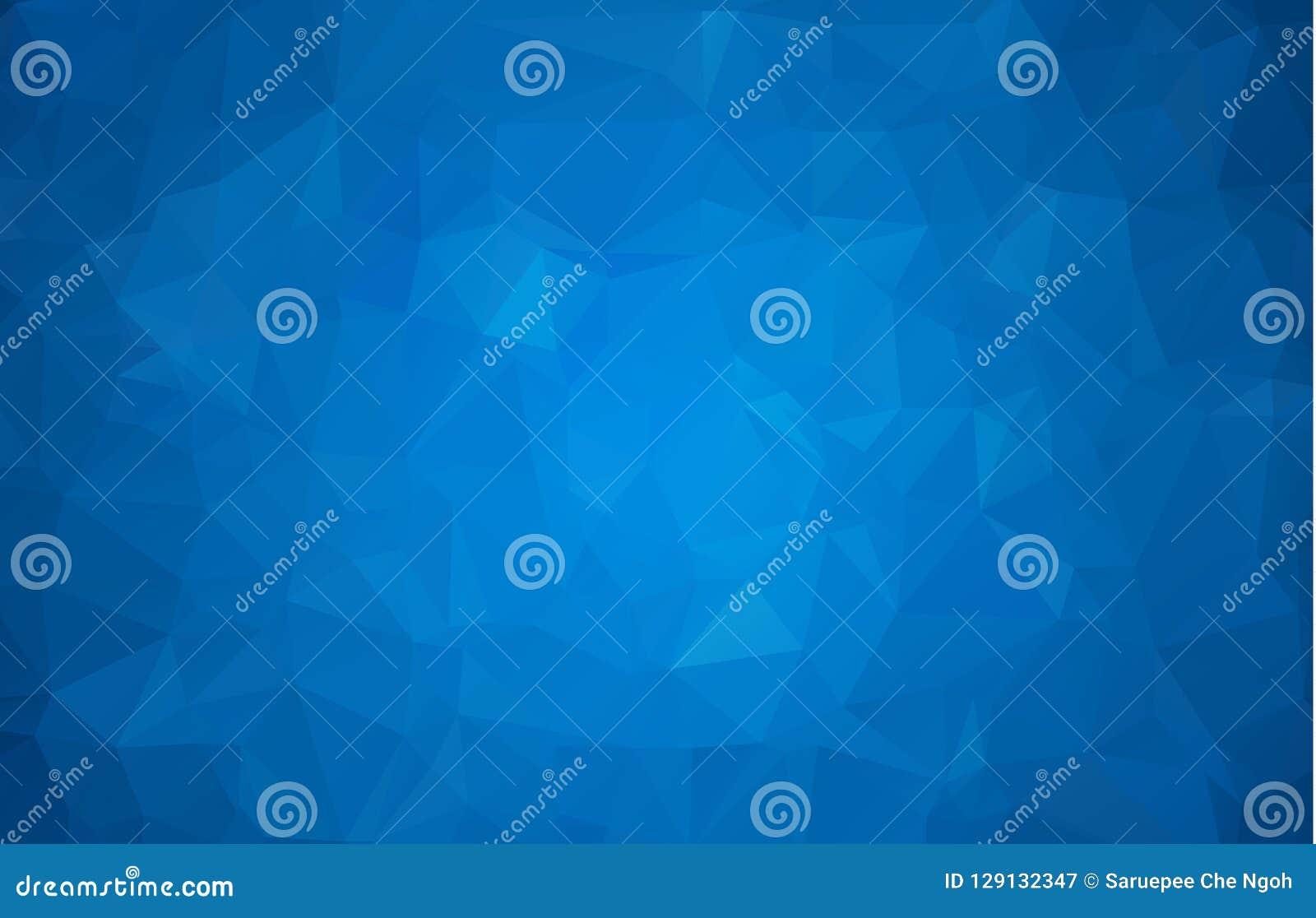 抽象多色深蓝几何弄皱的三角低多样式梯度例证图表背景 传染媒介多角形