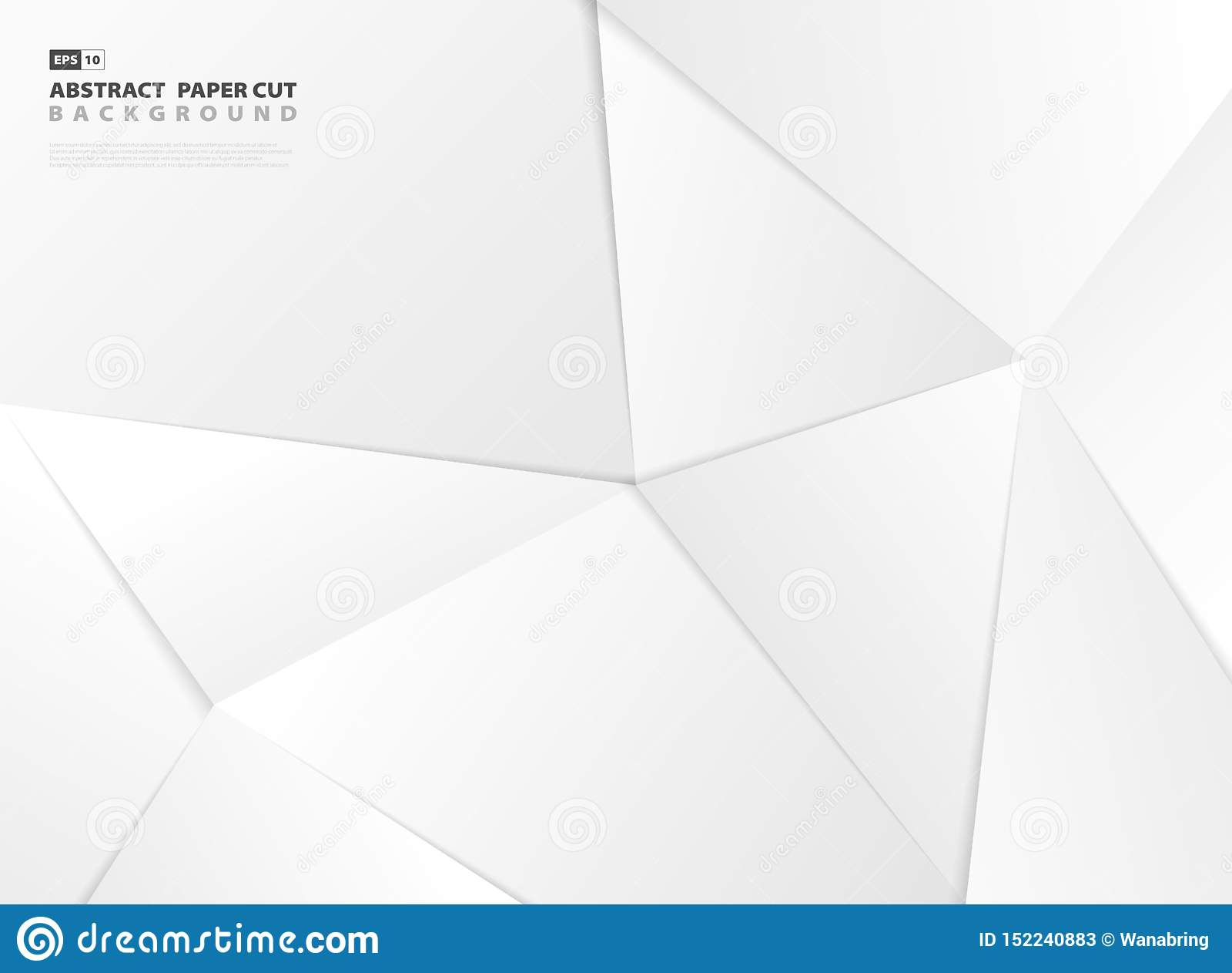 抽象多角形梯度灰色纸裁减样式设计模板背景 r