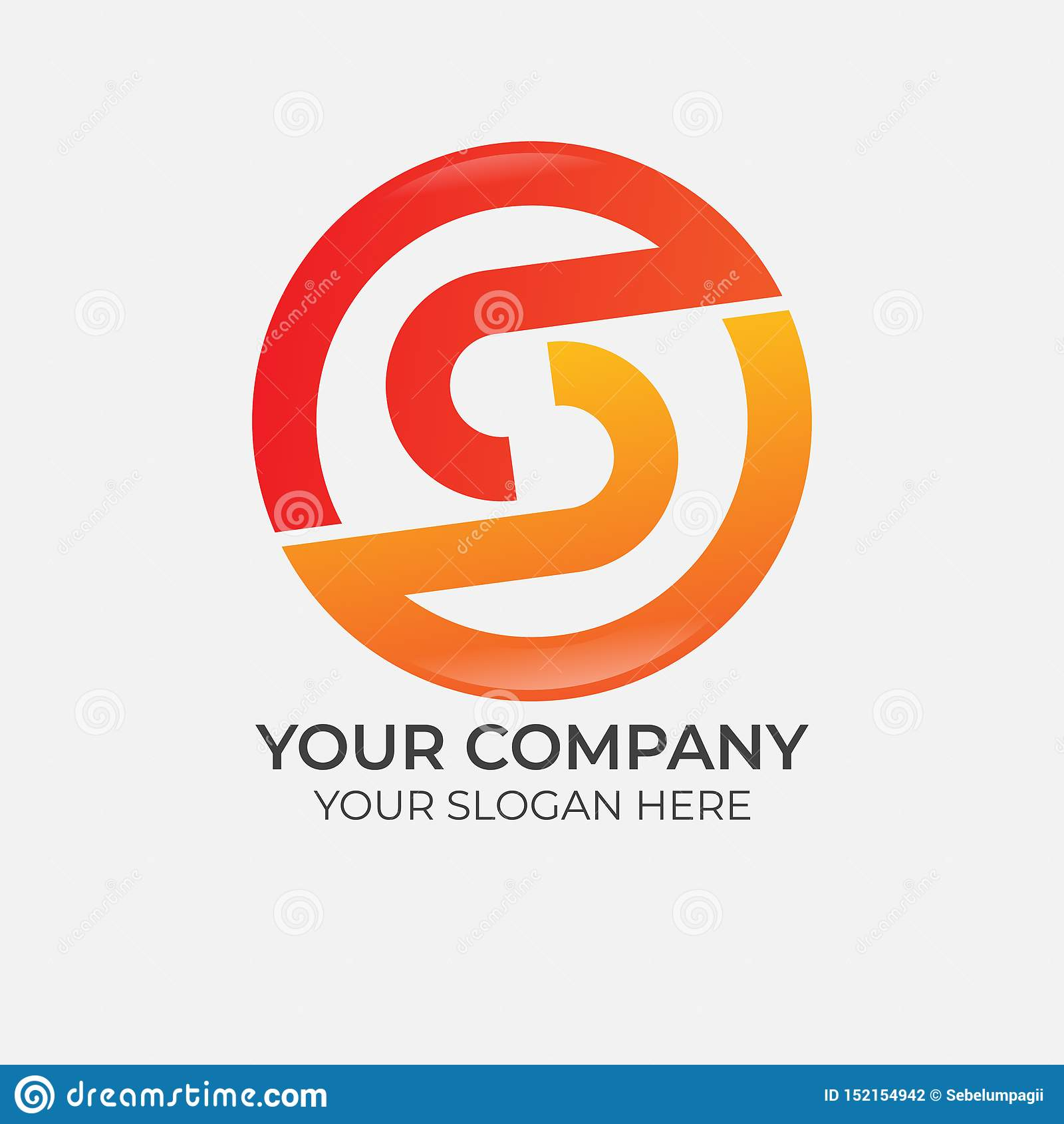 抽象字母S商标设计