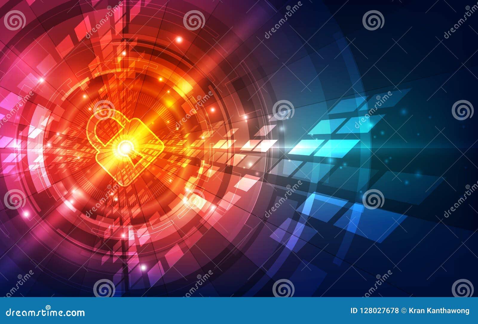 抽象安全数字技术背景 例证传染媒介