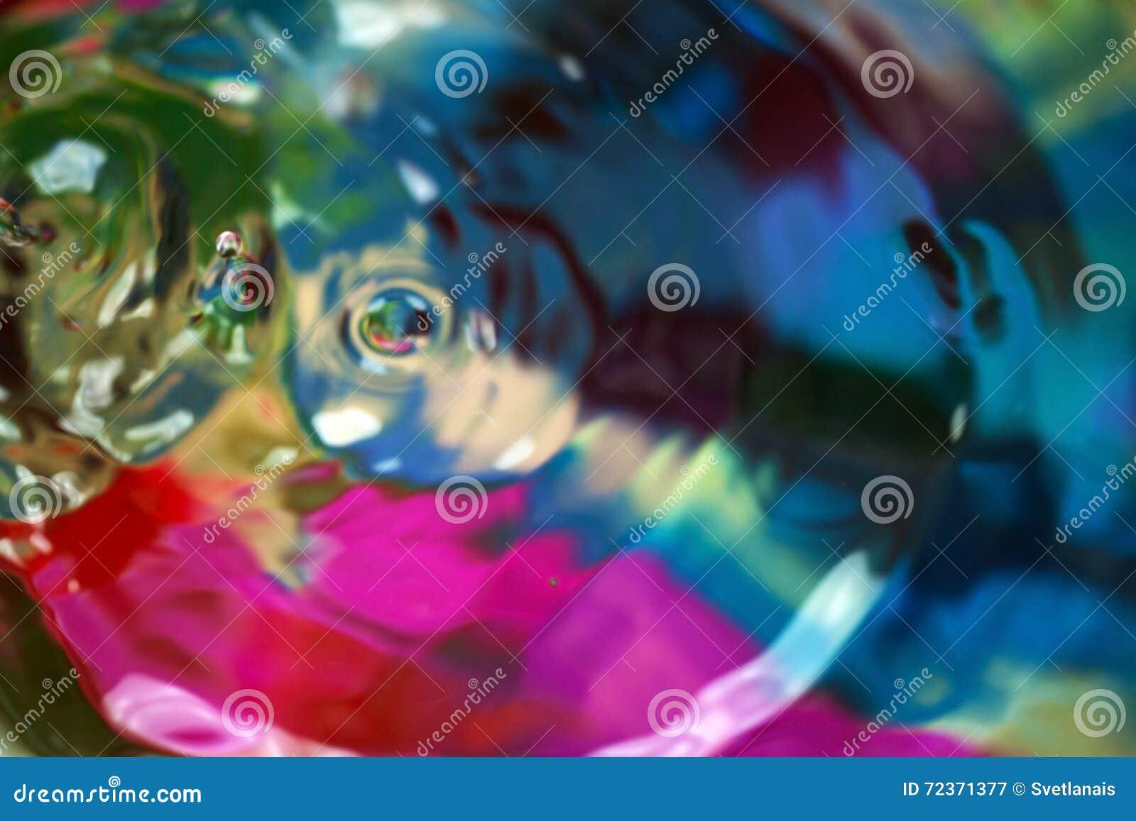 抽象小滴,五颜六色的颜色背景