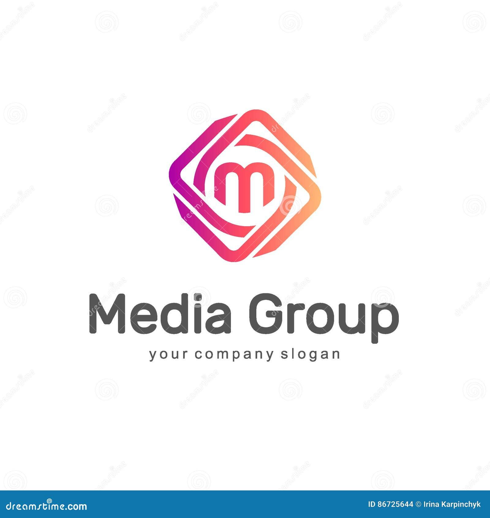 抽象徽标向量 媒介小组 多媒体商标