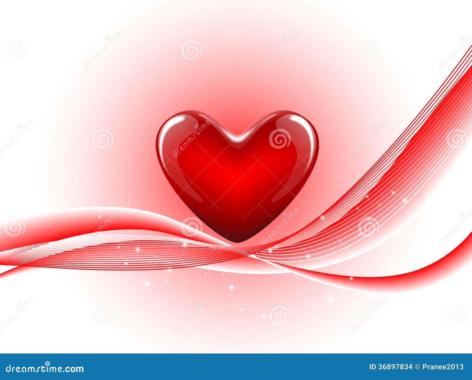 在抽象背景的红色心脏.图片
