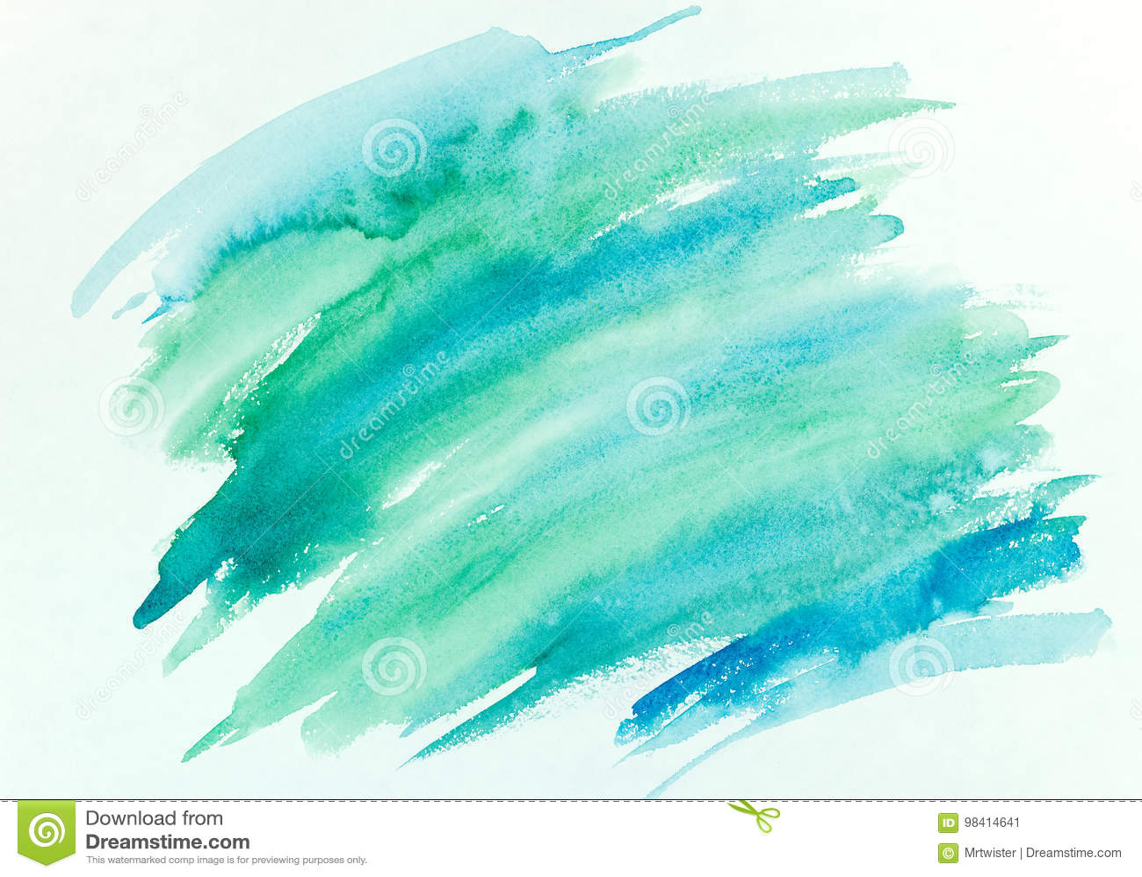 抽象手画五颜六色的镶边水彩背景