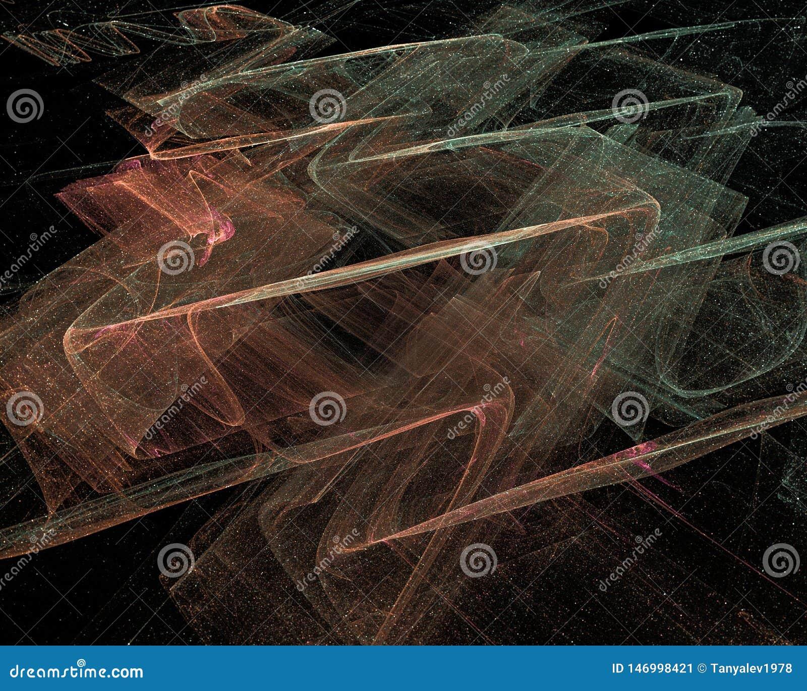 抽象数字分数维科学意想不到的未来派幻想设计背景动力学