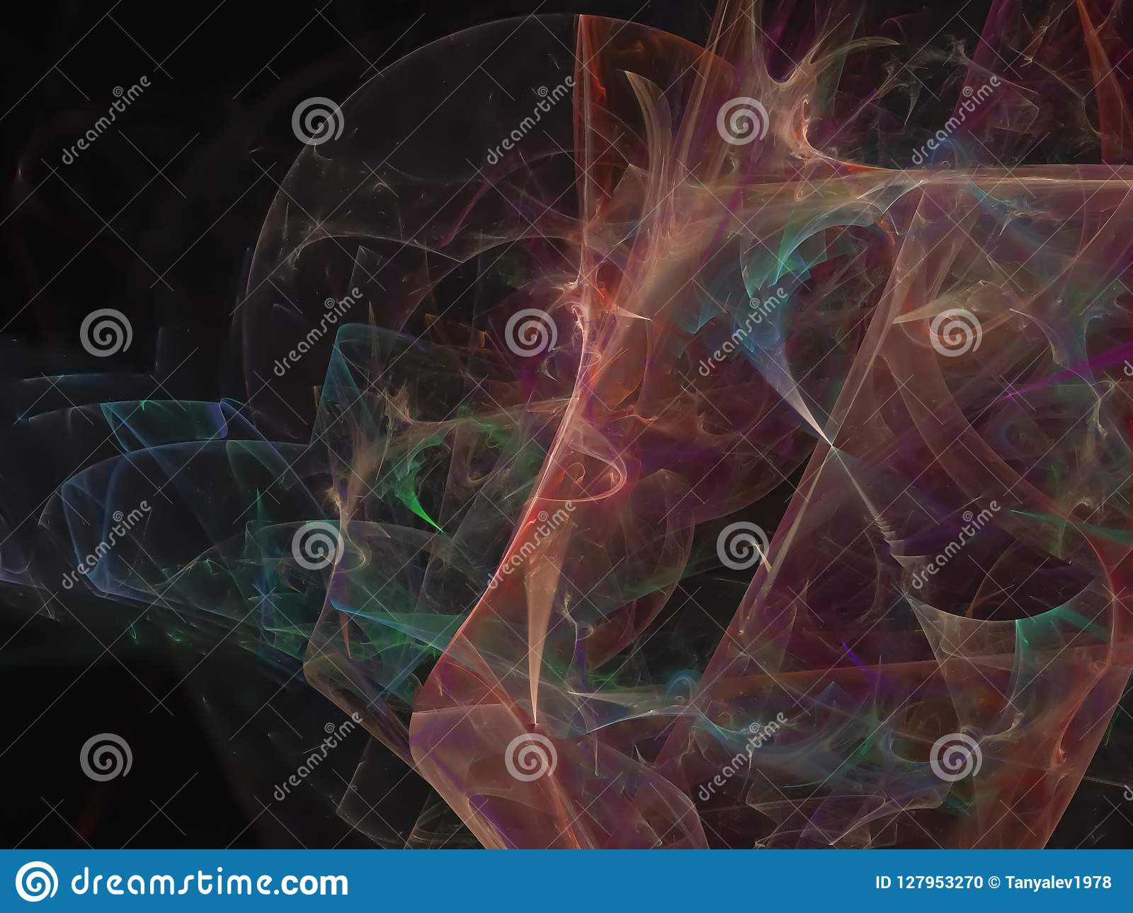 抽象数字式分数维,轻的幻想表面能墙纸未来派样式飘渺设计,党