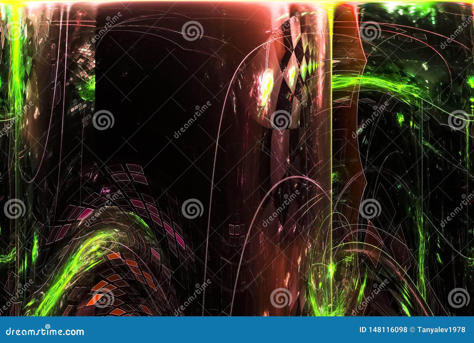 抽象数字,科学创造性的火花能量分数维焕发模板躺在了幻想现代设计魔术动力学