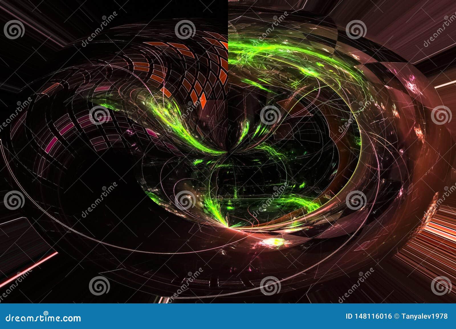 抽象数字,科学引发能量分数维焕发模板躺在了幻想现代设计魔术动力学