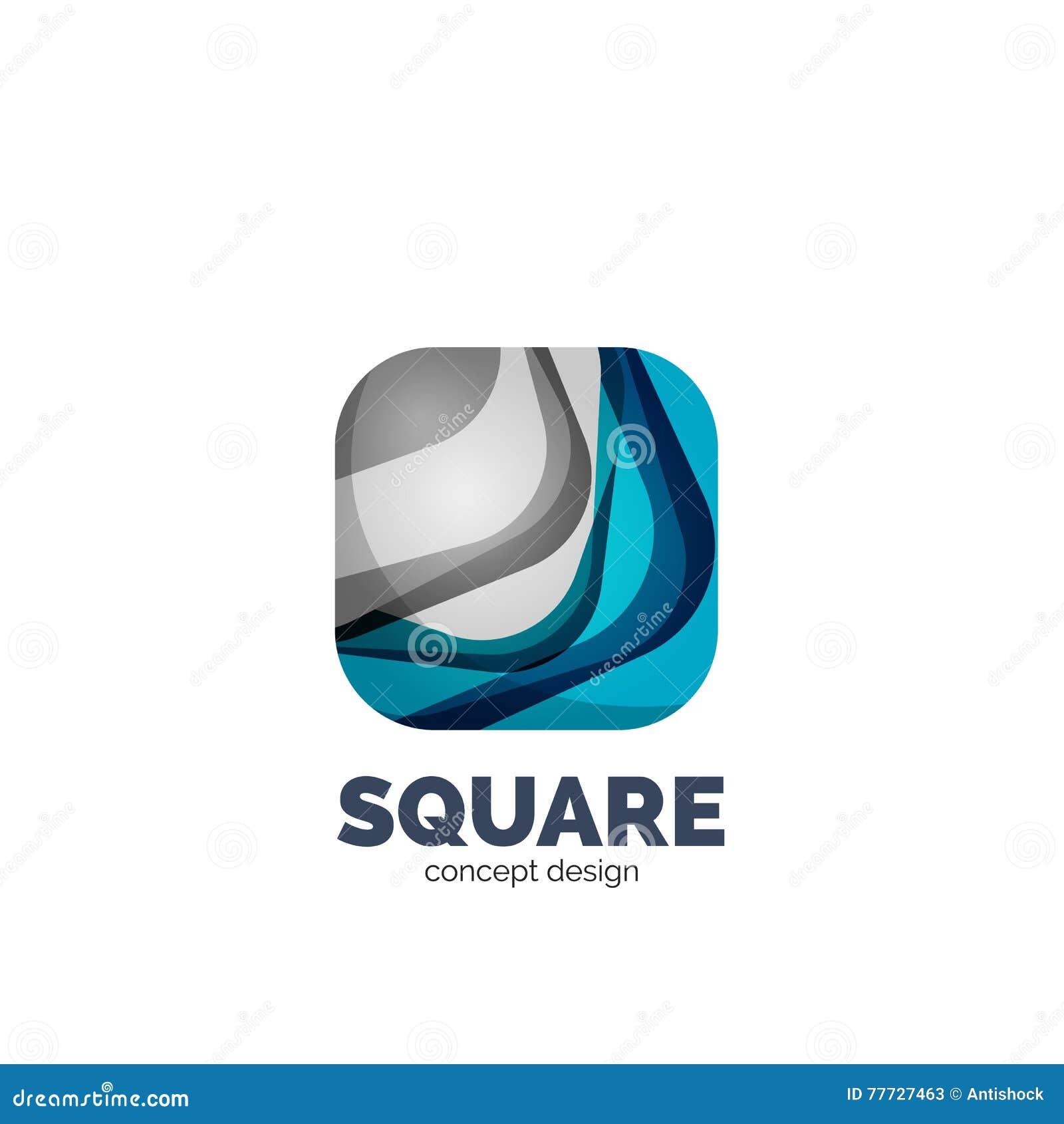 抽象方形的商标