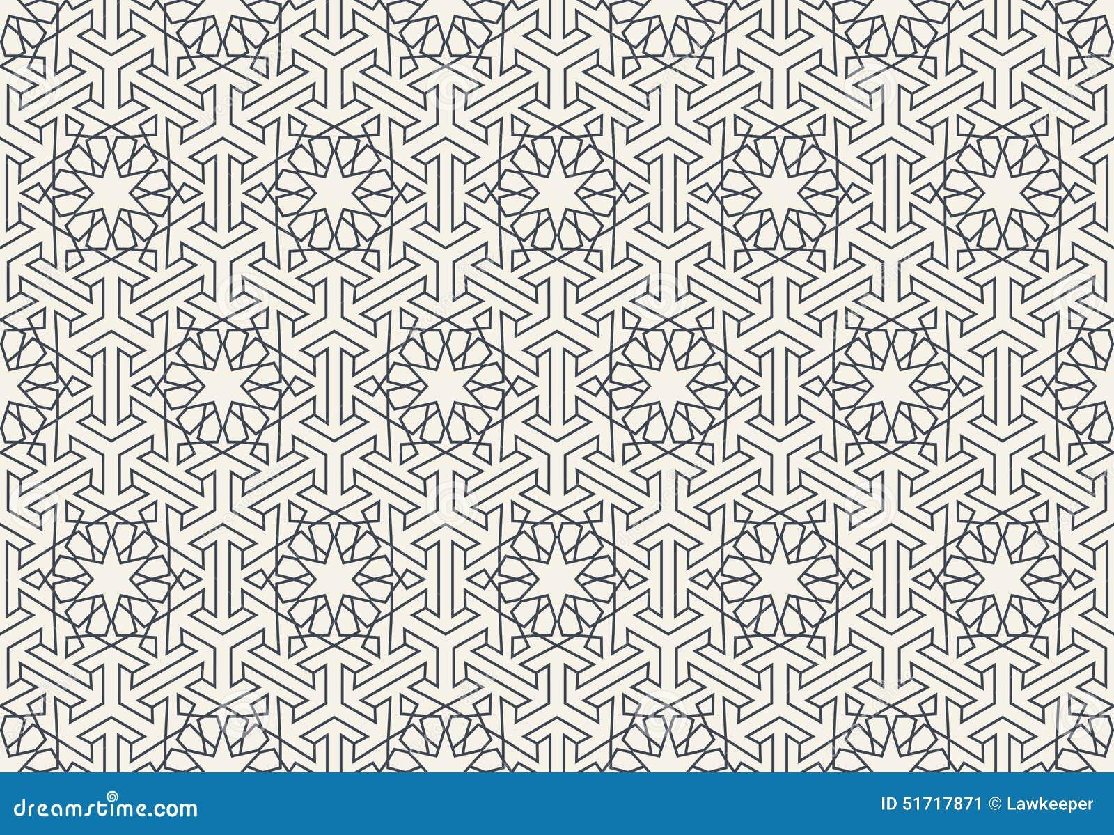抽象无缝的几何伊斯兰教的墙纸样式