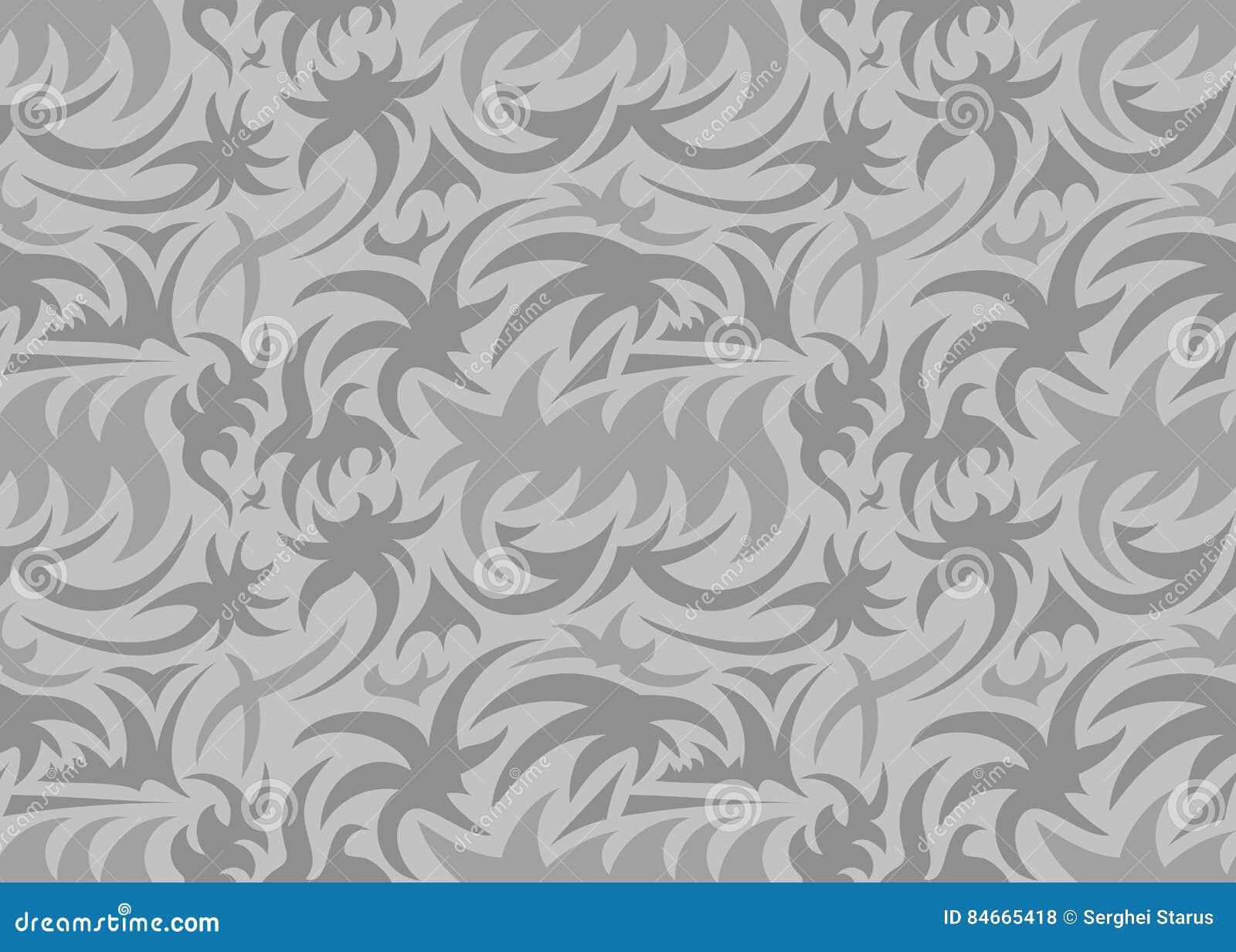 抽象无缝的有机样式 也corel凹道例证向量