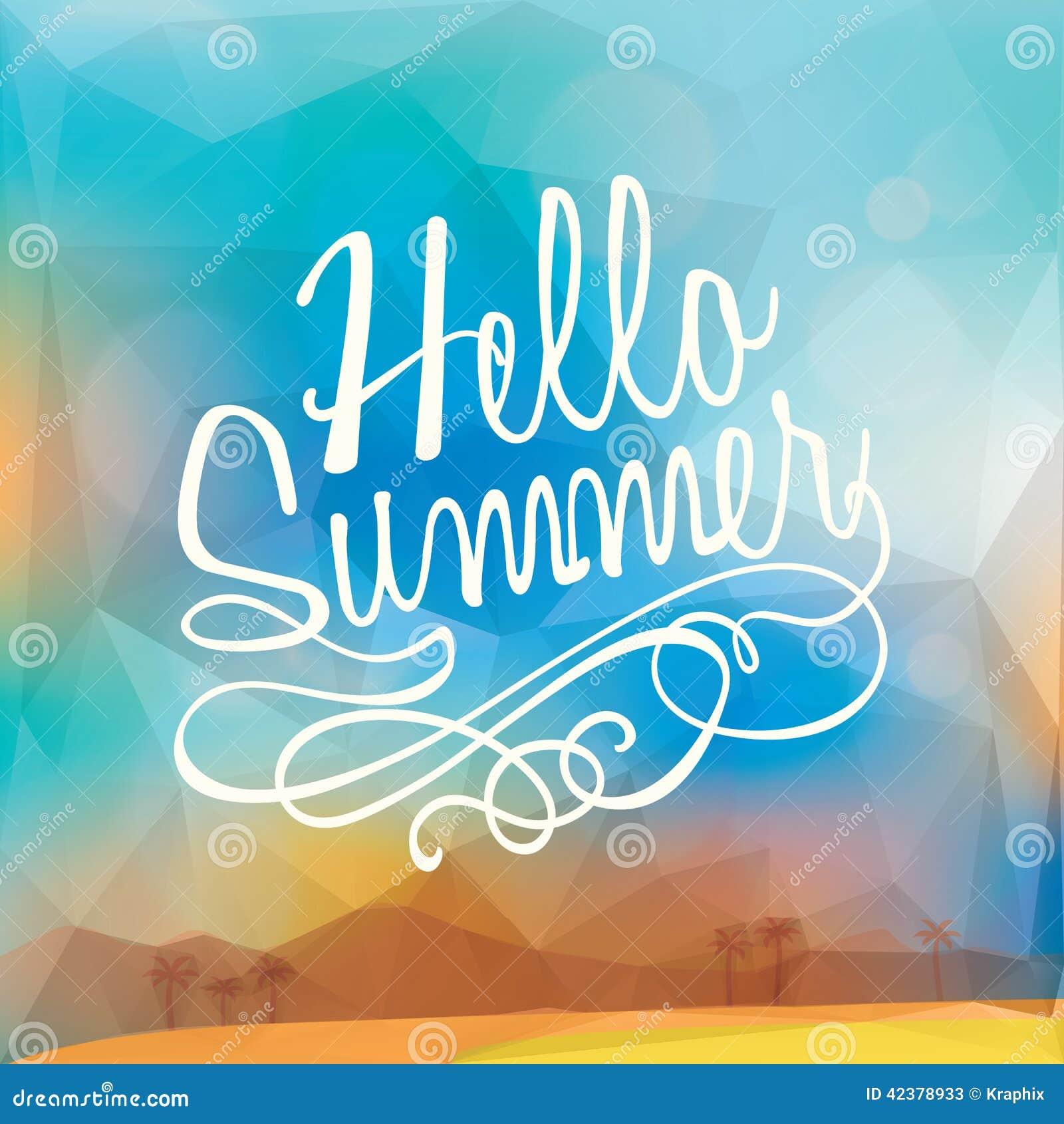 抽象暑假多角形海报背景