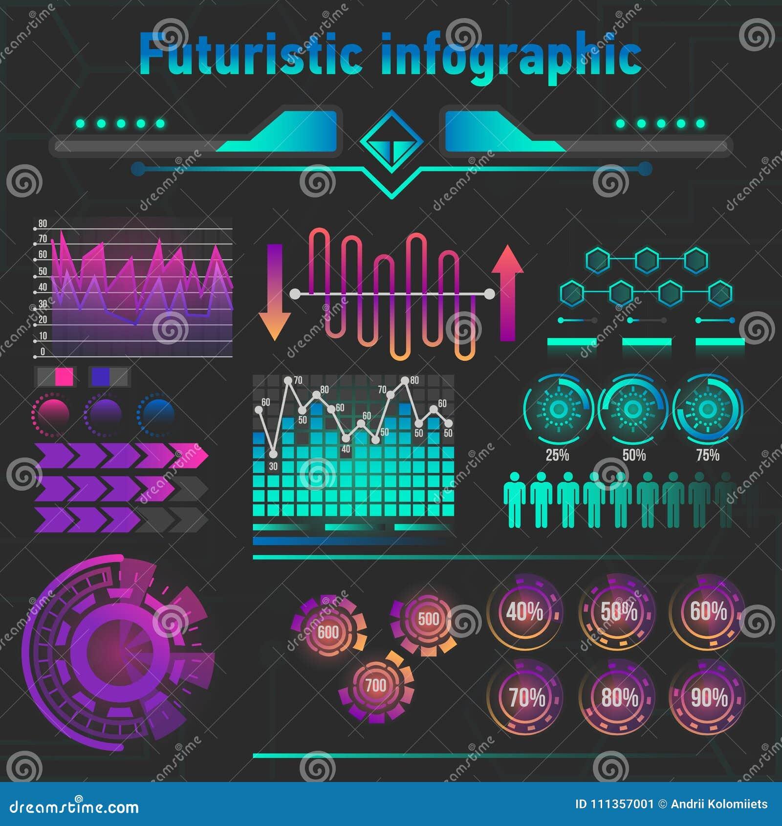 抽象未来派infographics