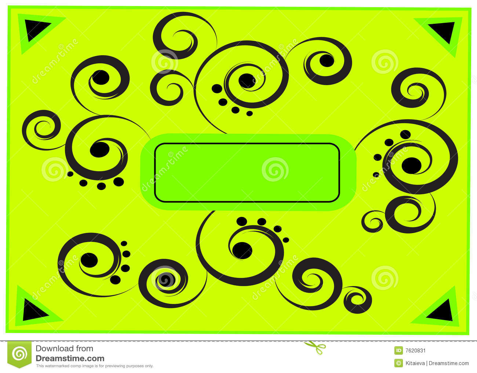 抽象框架绿色