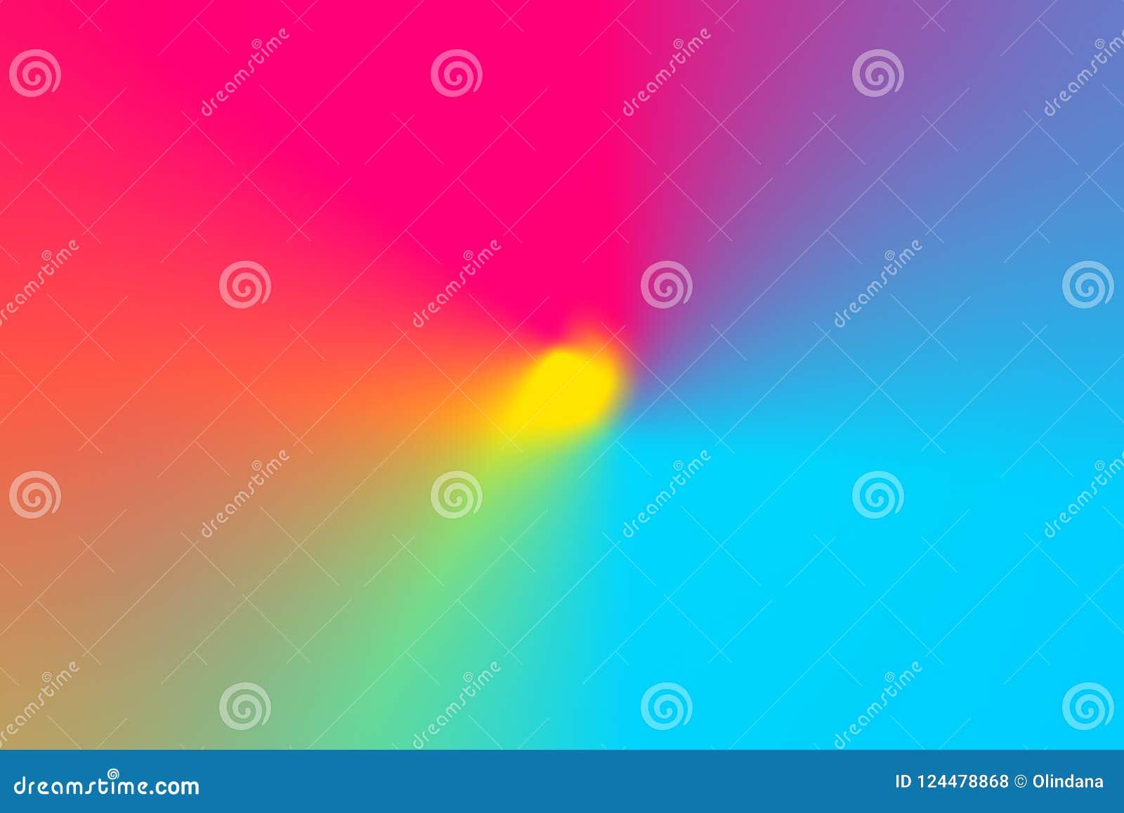 抽象梯度弄脏了多彩多姿的彩虹光光谱辐形背景 辐形同心样式 生动的霓虹颜色