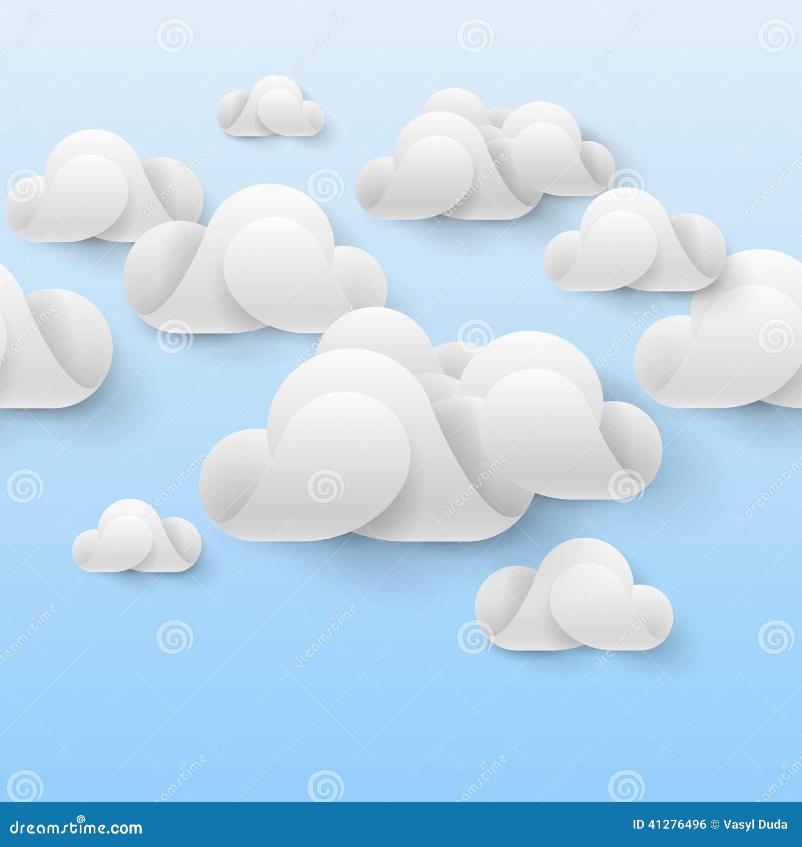抽象白色云彩由弯曲的元素做成在浅兰的背景2010计算微软smau的云彩.