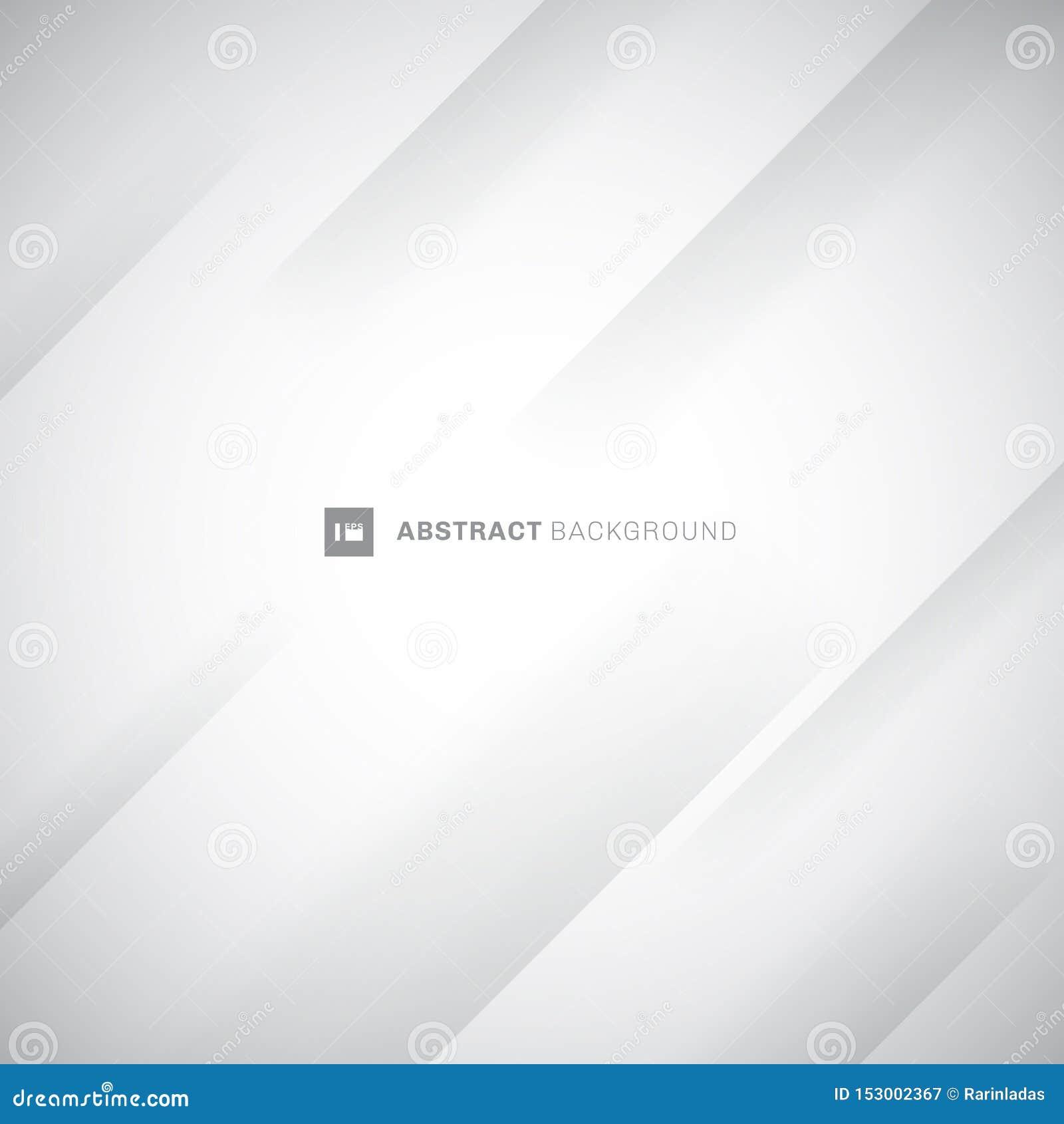 抽象白色和灰色现代对角条纹背景 纸折叠折痕 您能为封面设计,海报,广告使用