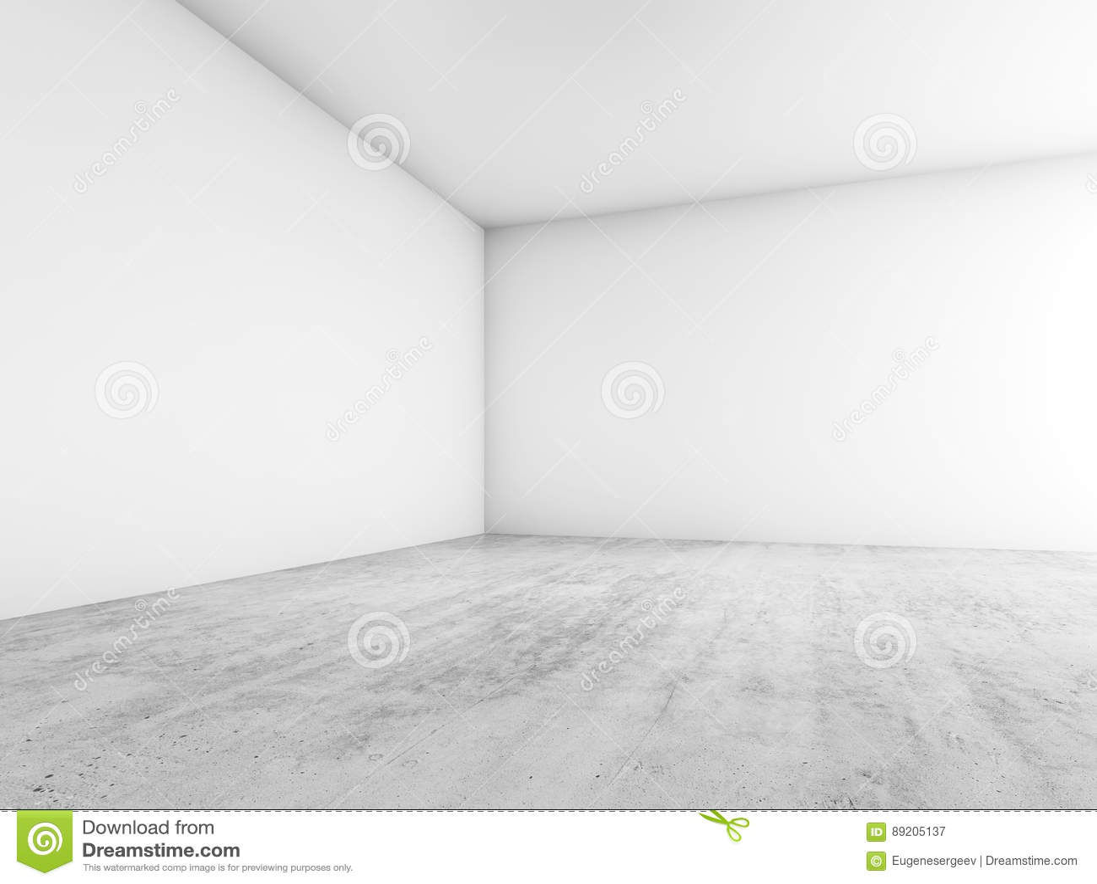 抽象空的内部,空白的白色墙壁的角落