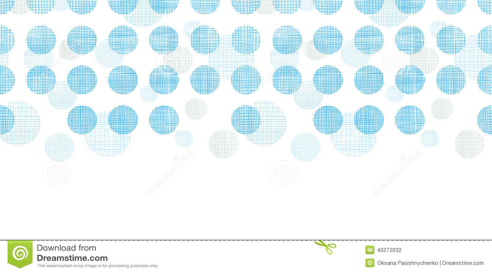 抽象纺织品蓝色圆点镶边水平的无缝的样式背景