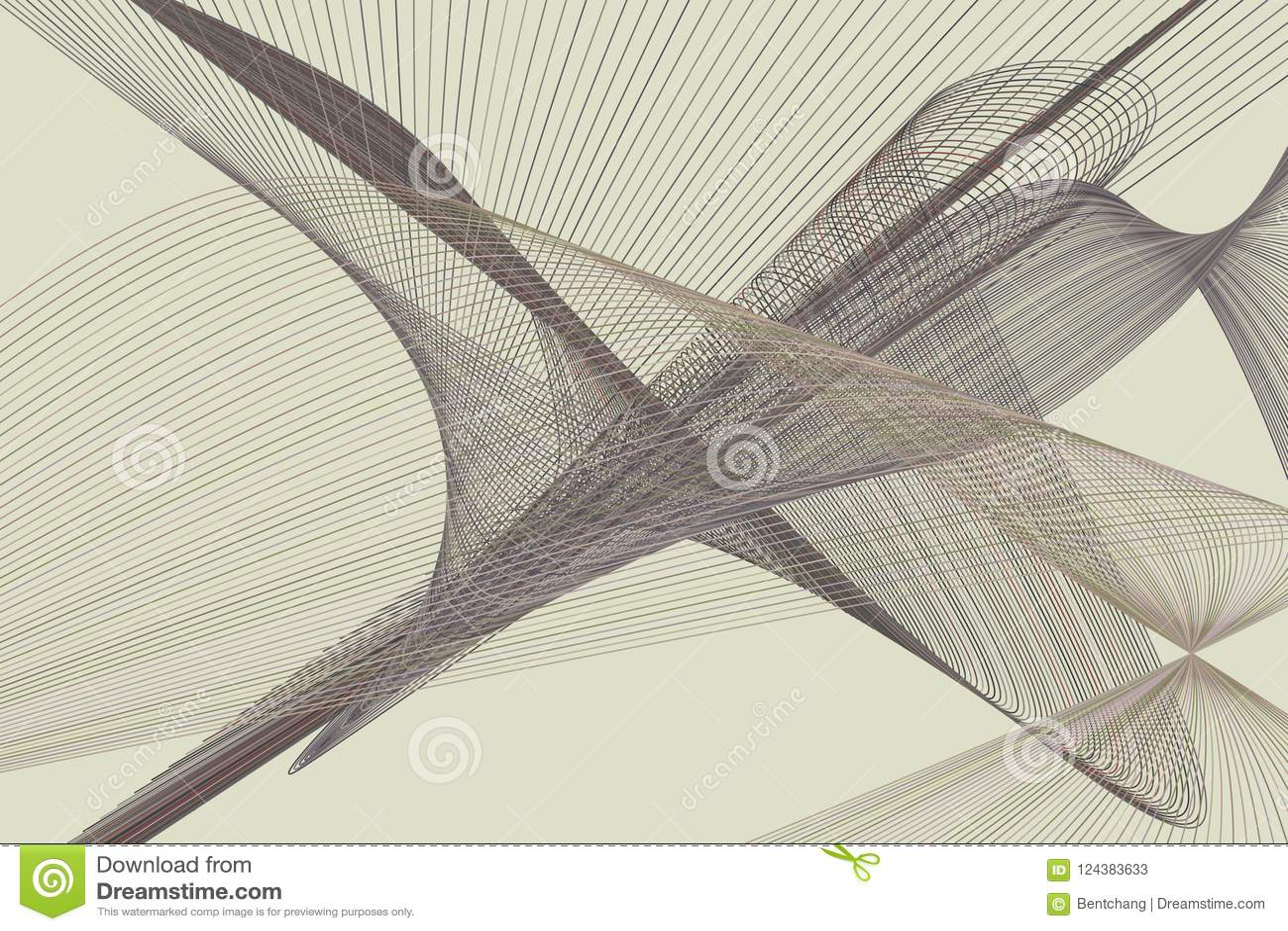 抽象线&曲线几何样式,五颜六色&艺术性为图形设计 传染媒介、墙纸、概念&例证