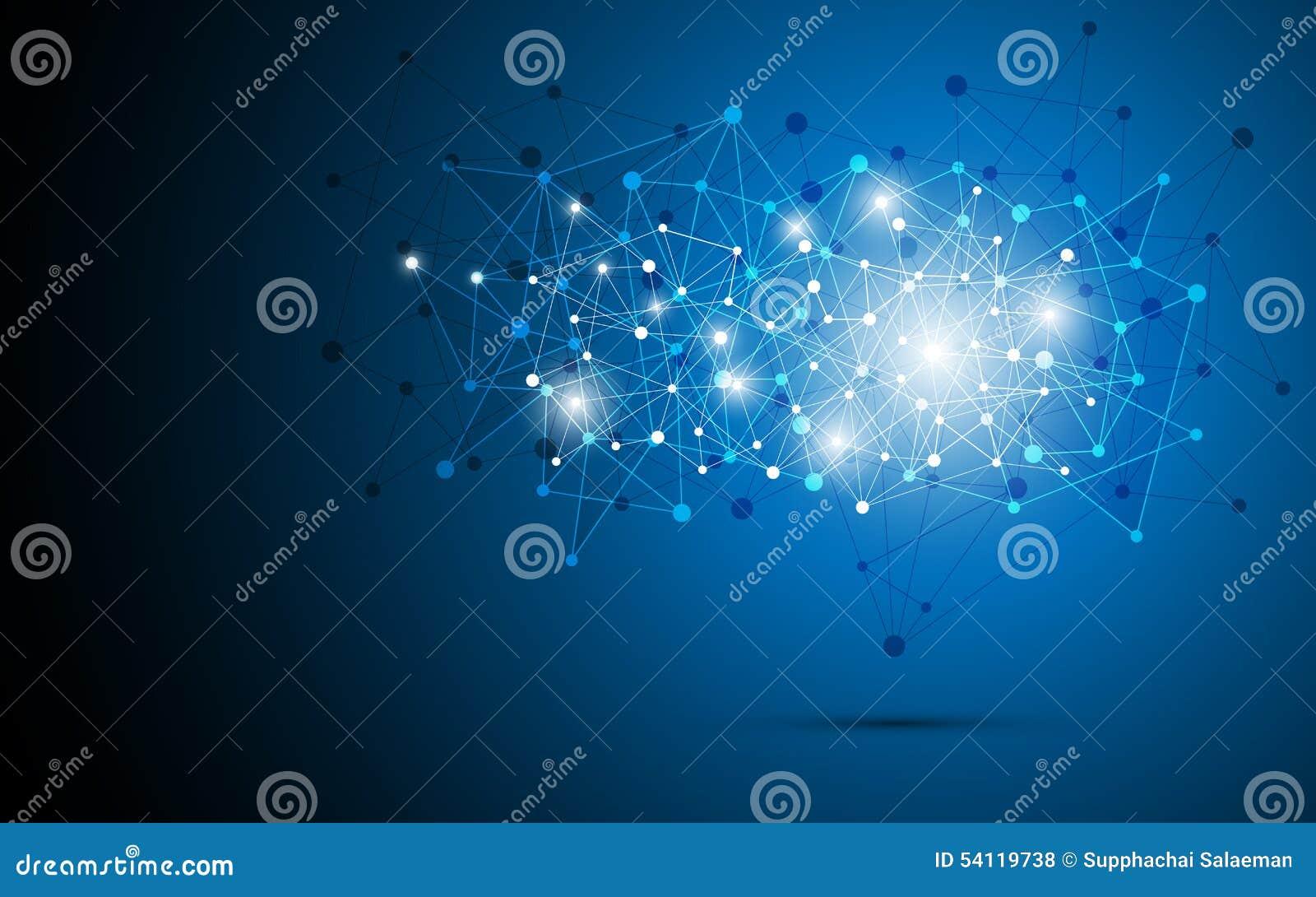 抽象结构网络连接点多角形设计背景eps 10传染媒介.图片