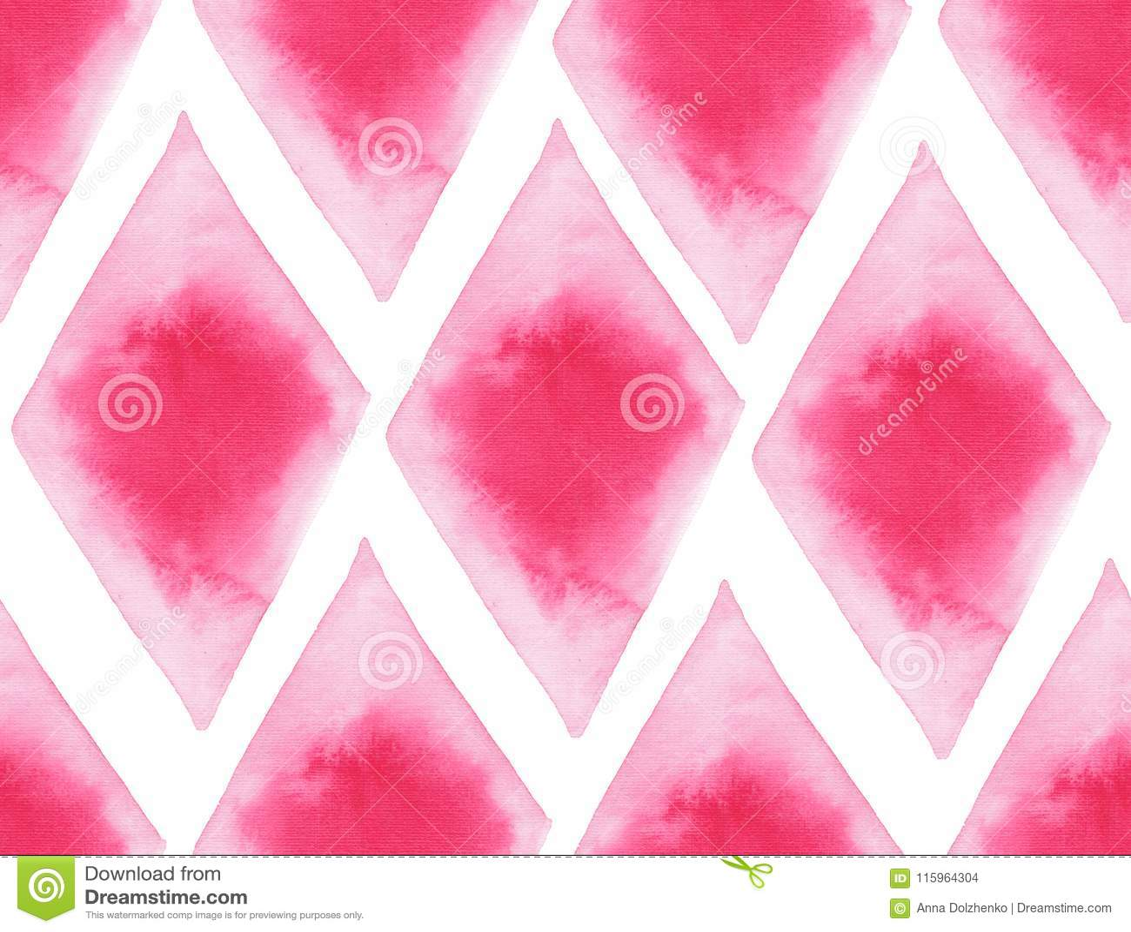 抽象美好的艺术性的嫩美妙的透明明亮的红色桃红色不同的形状仿造水彩手例证