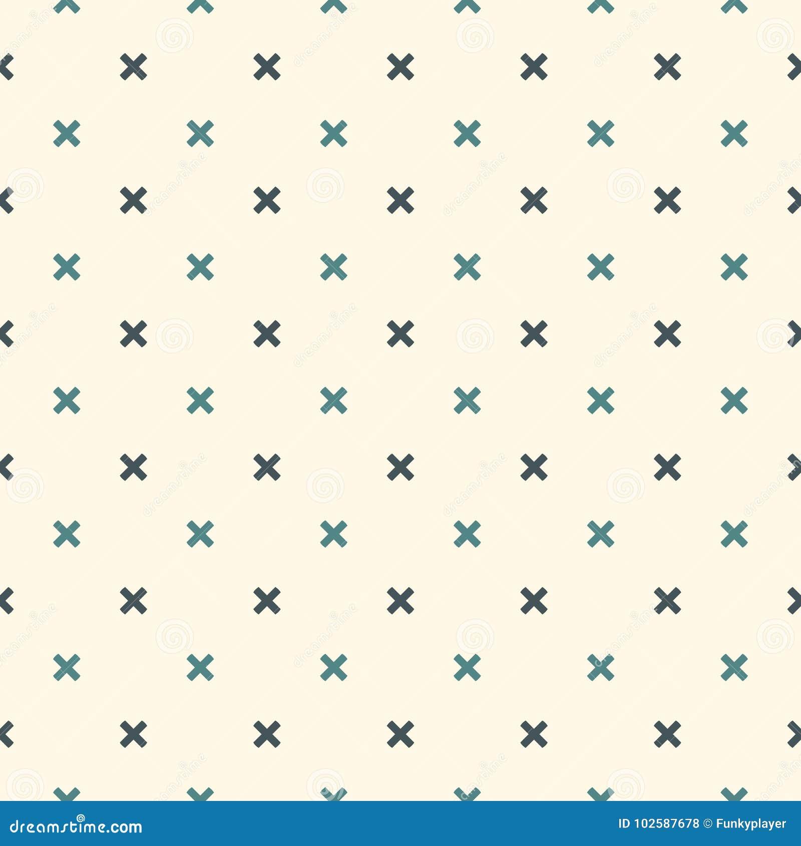 抽象背景最低纲领派 与微型十字架的简单的现代印刷品 与几何图的无缝的样式