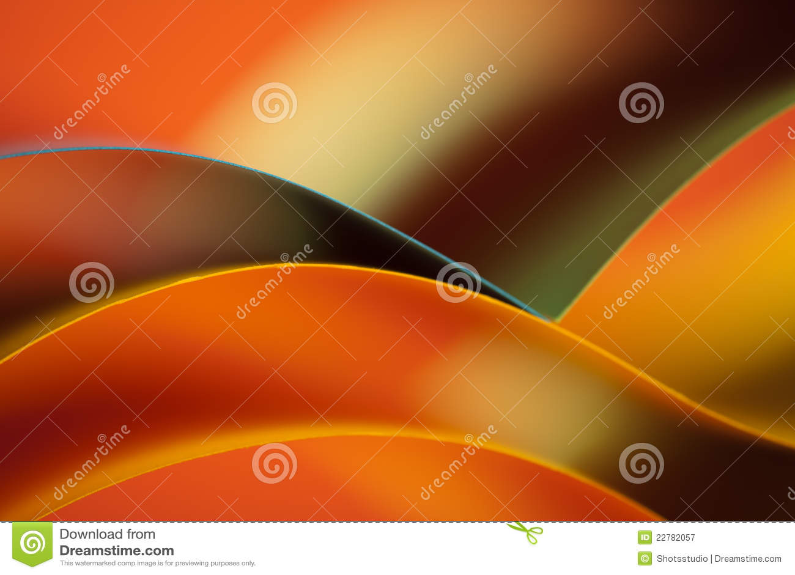 抽象背景色的橙色纸张