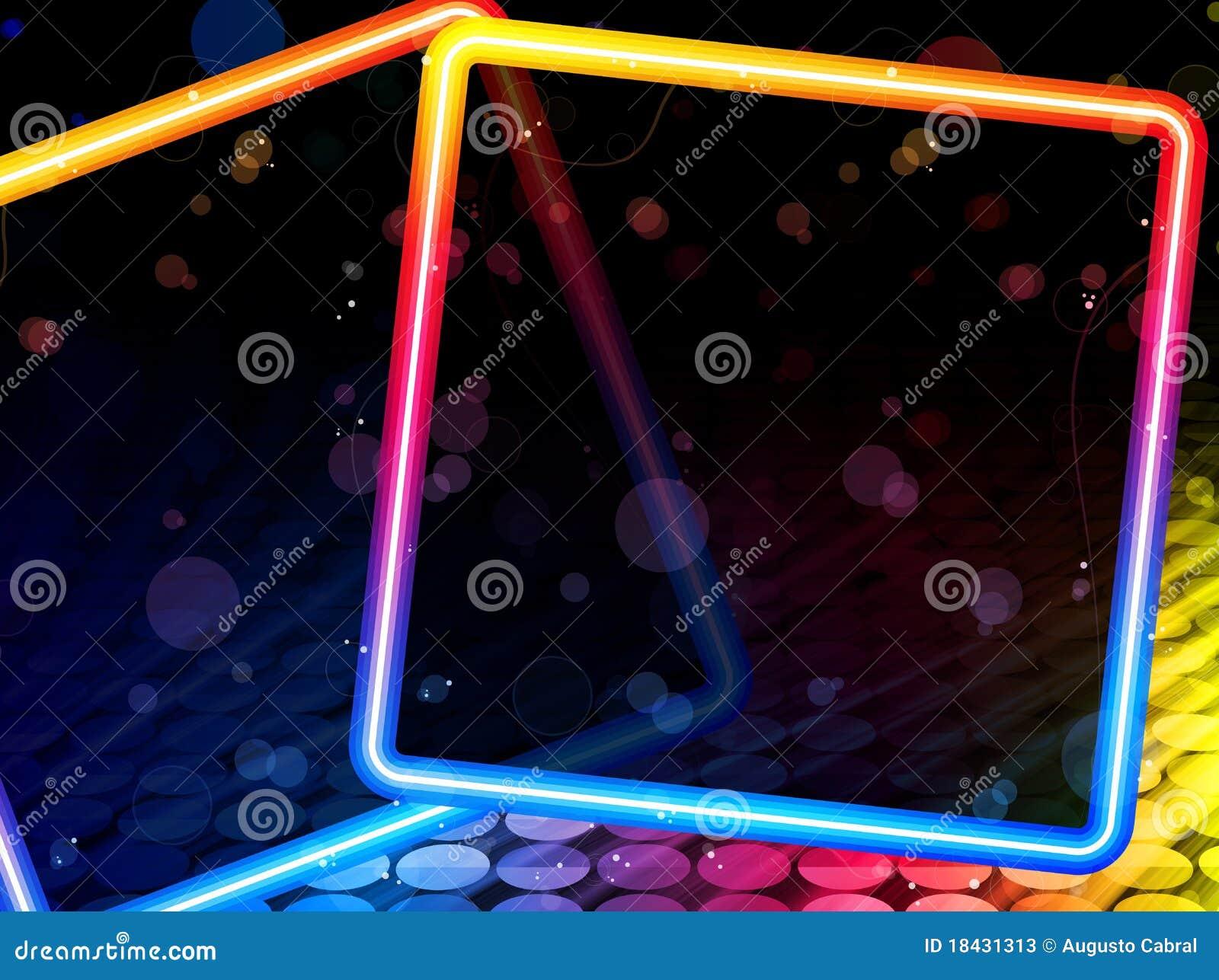 抽象背景迪斯科正方形