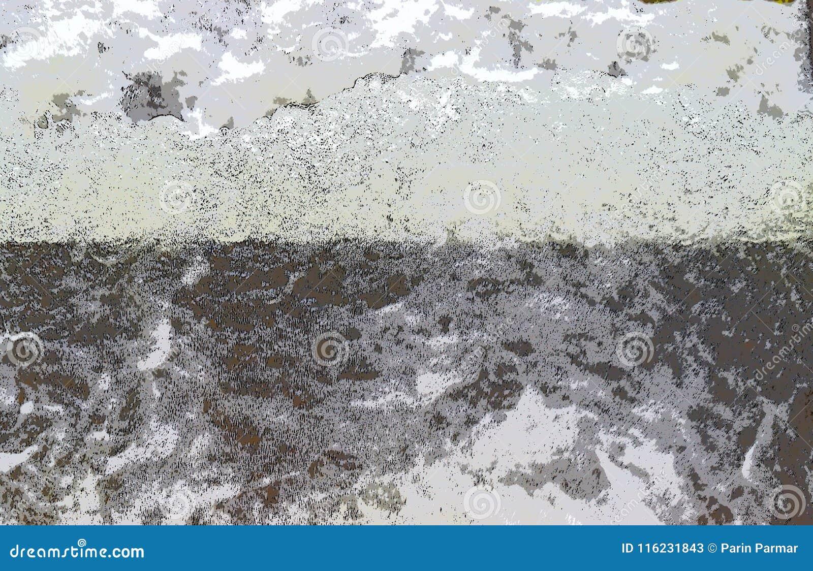 抽象背景-与黑和灰色颜色的不规则的白色形状-水流程