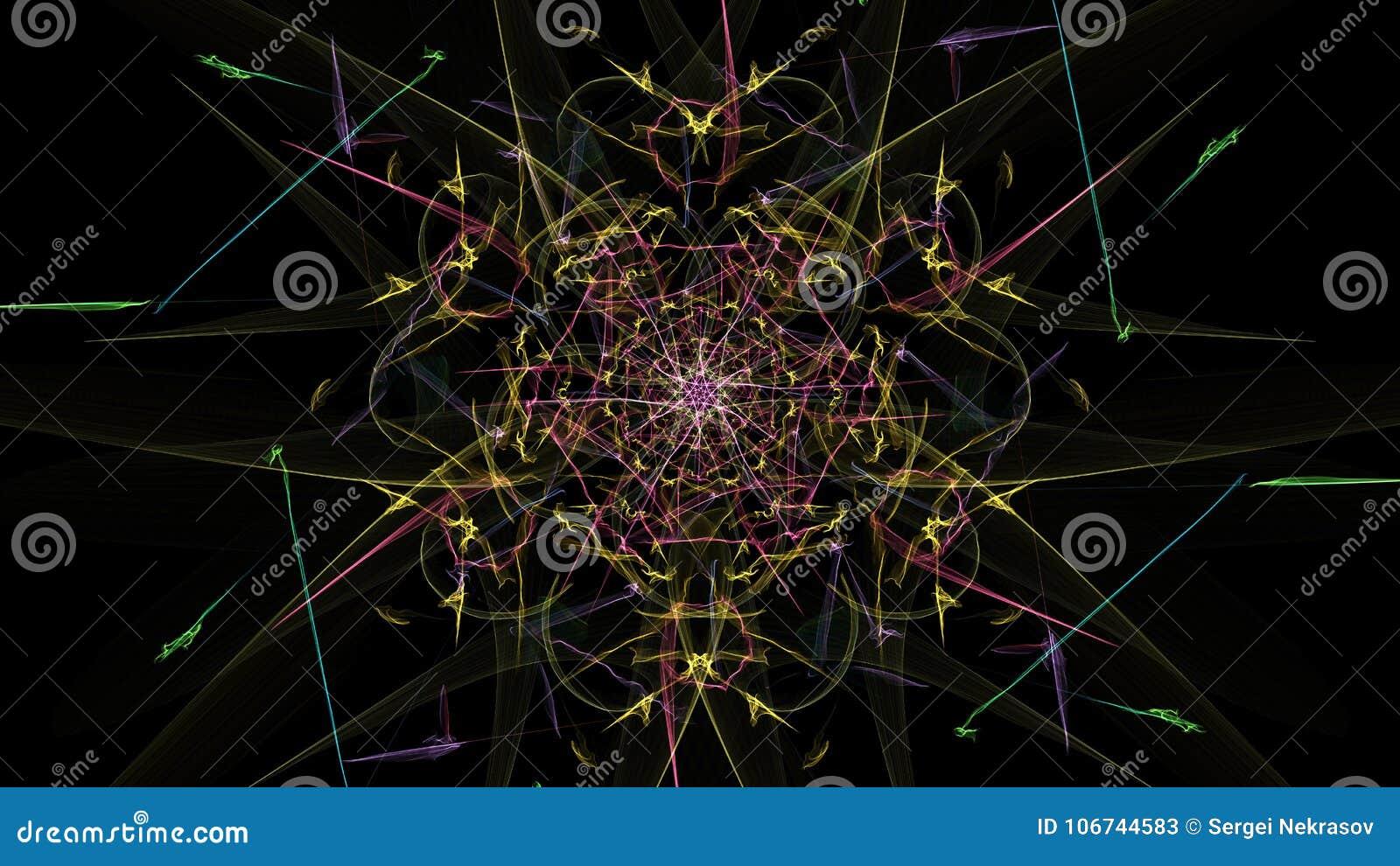 抽象背景-霓虹灯星