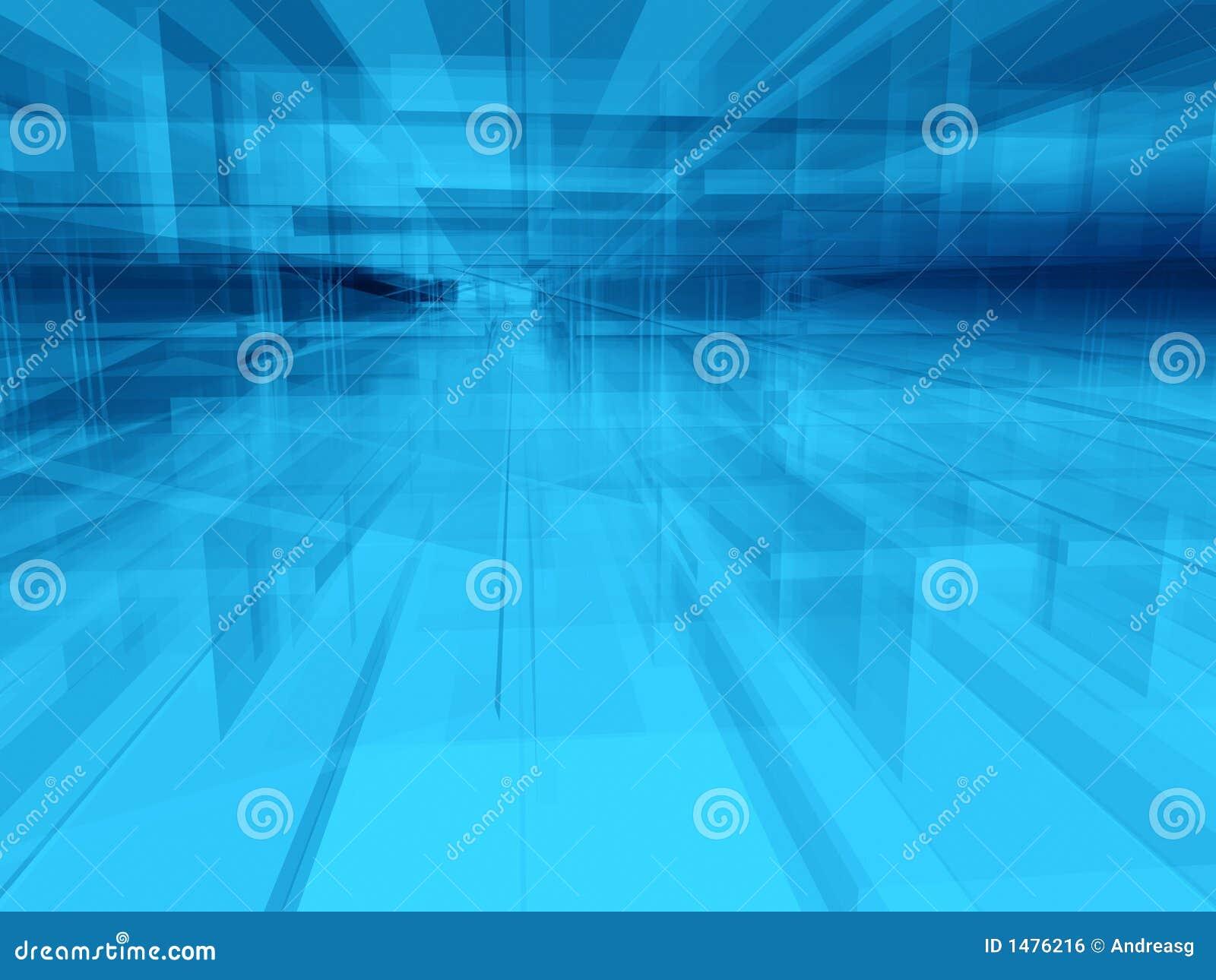 抽象蓝色内部